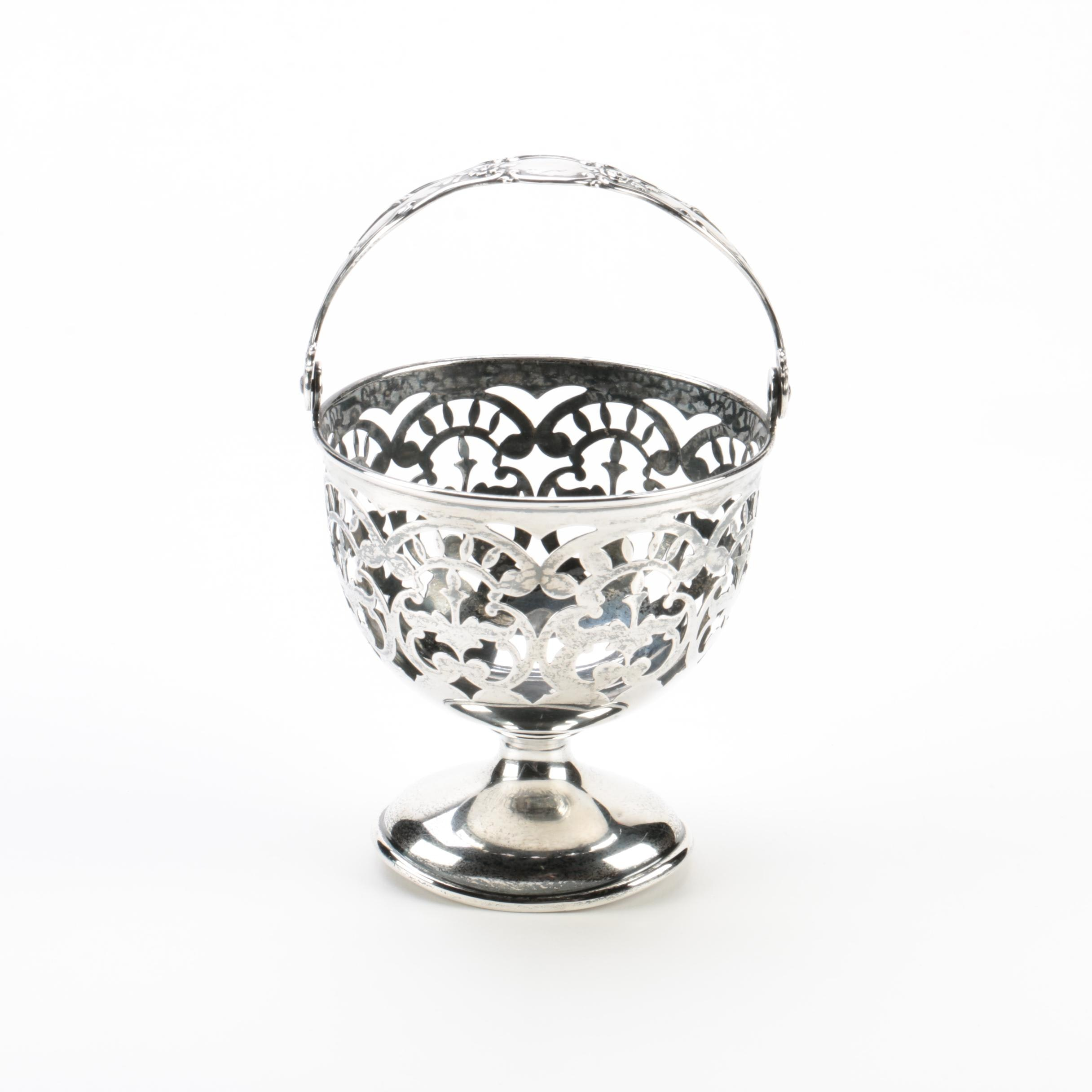 Sterling Silver Openwork Sugar Basket Made for Tiffany & Co.