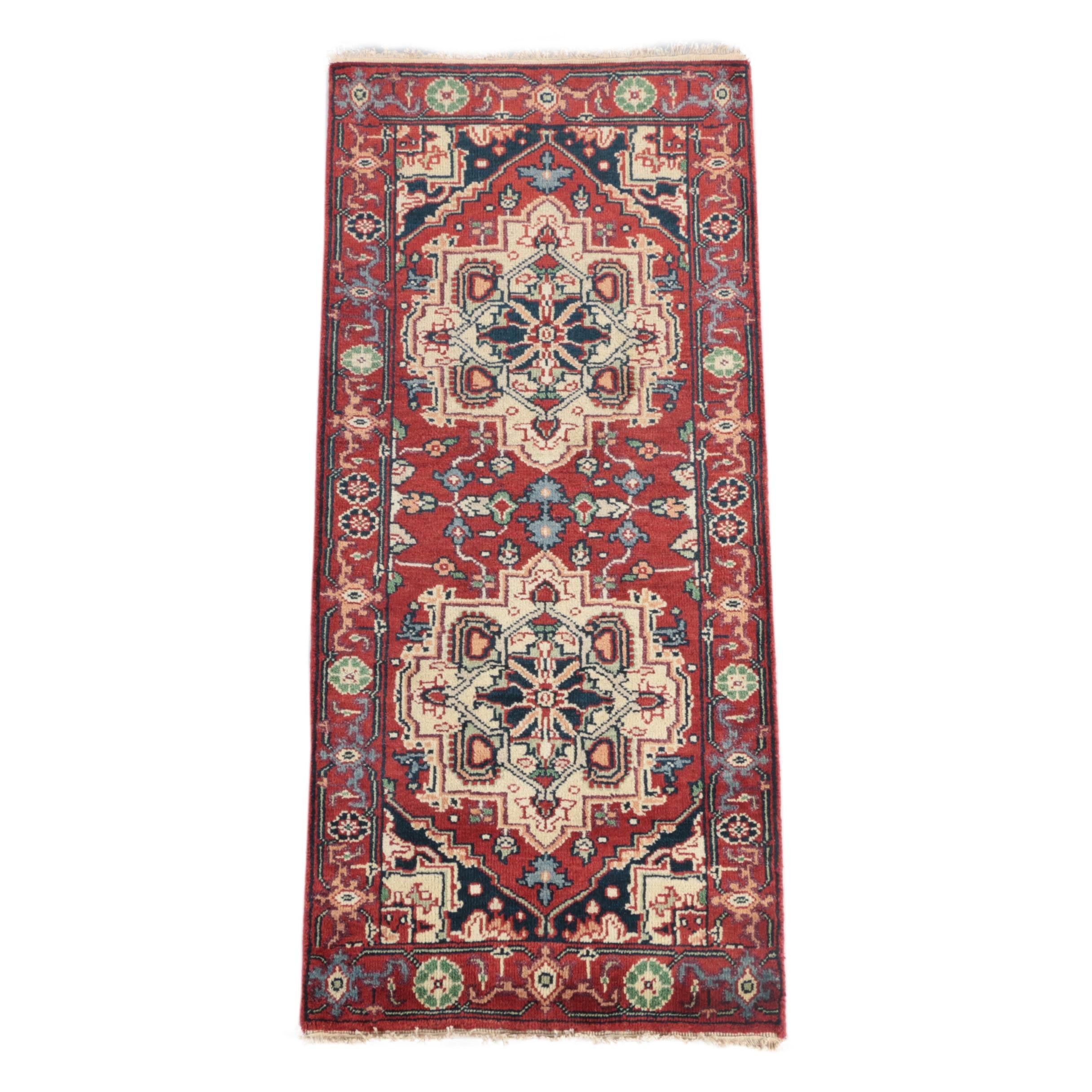 Hand-Knotted Persian Bakhshayesh Heriz Carpet Runner