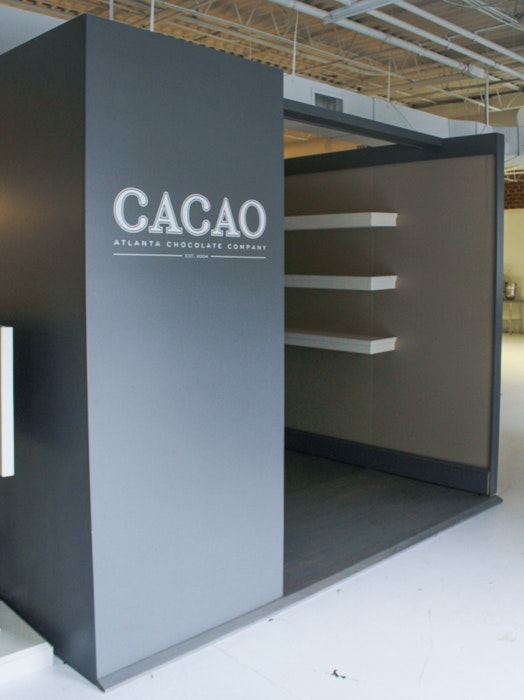 Show Display Room with Wall Panels