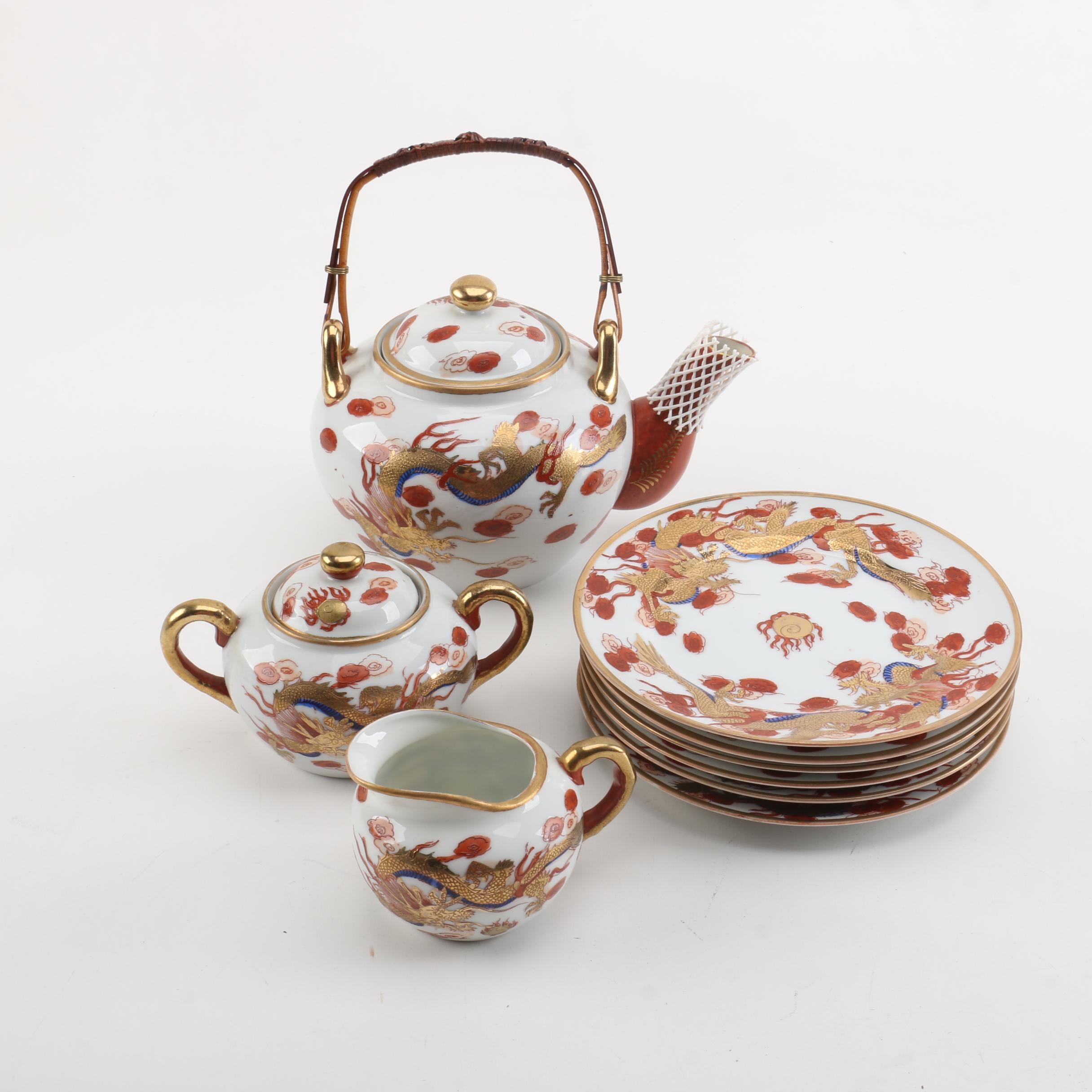 Hand-painted Japanese Porcelain Serveware