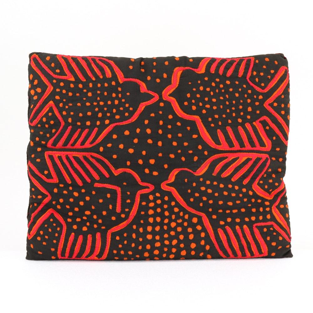 Guna Mola Style Textile Pillow
