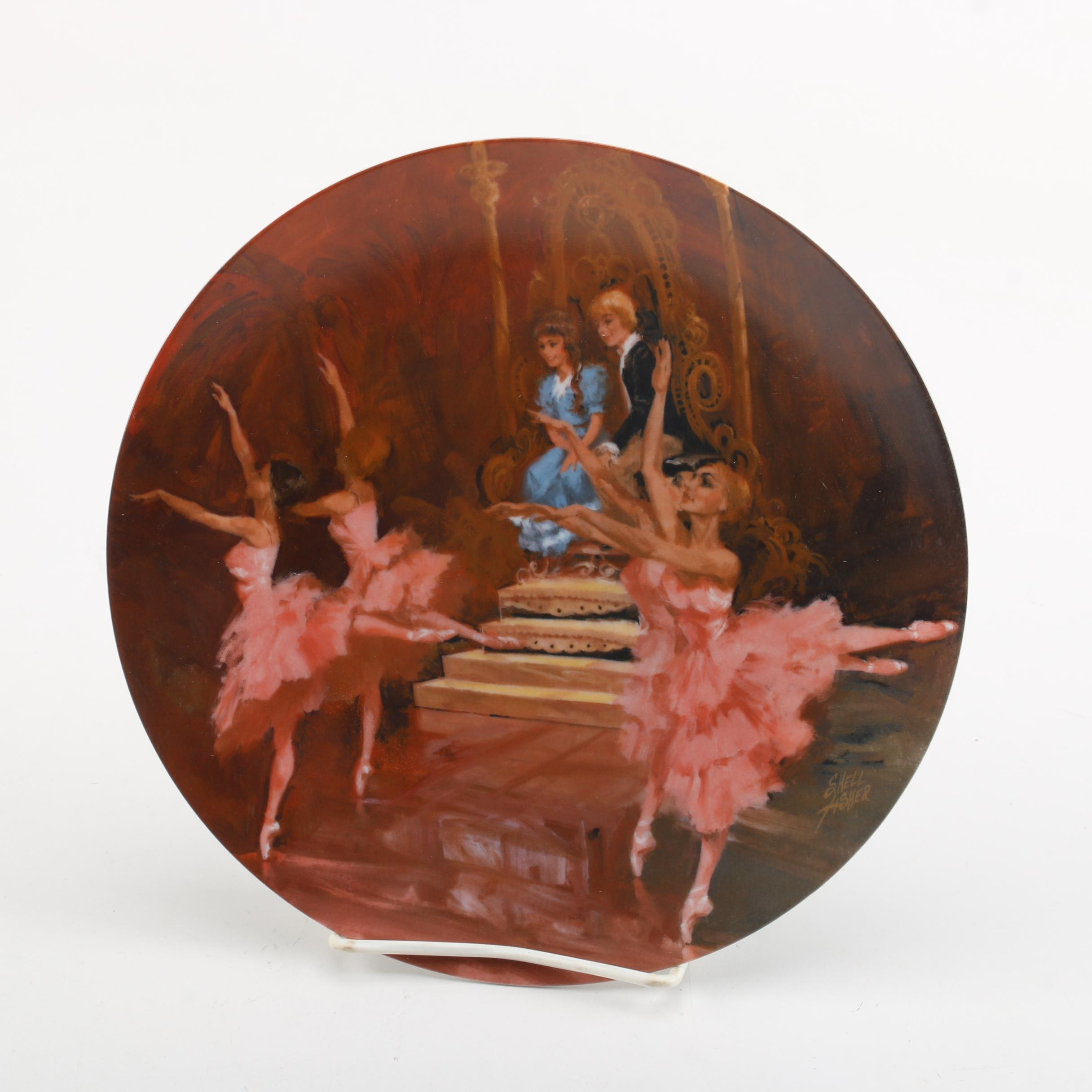 """1980 Shell Fisher """"The Waltz of the Flowers"""" Collector's Plate"""
