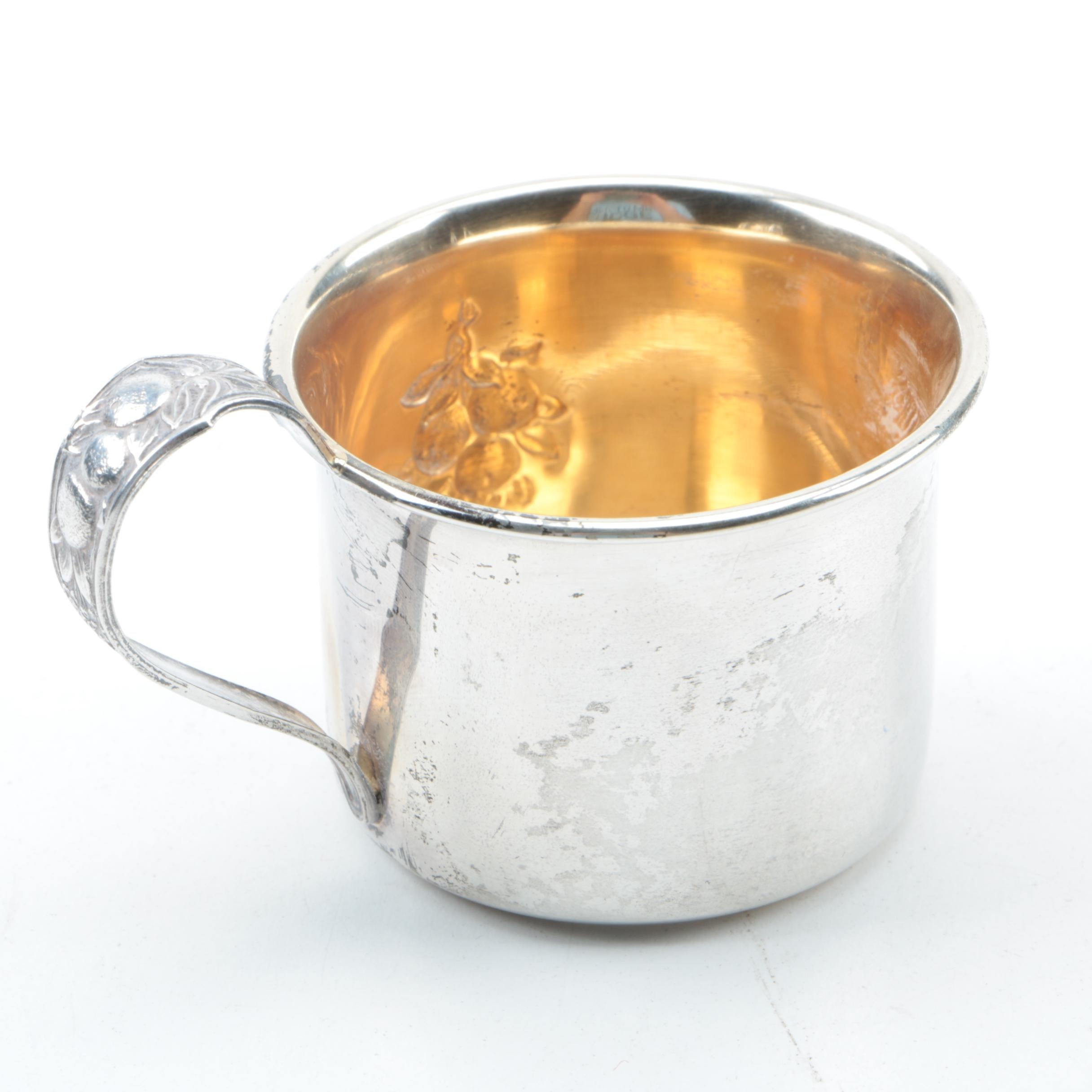Webster Company Fruit Themed Sterling Silver Baby Cup
