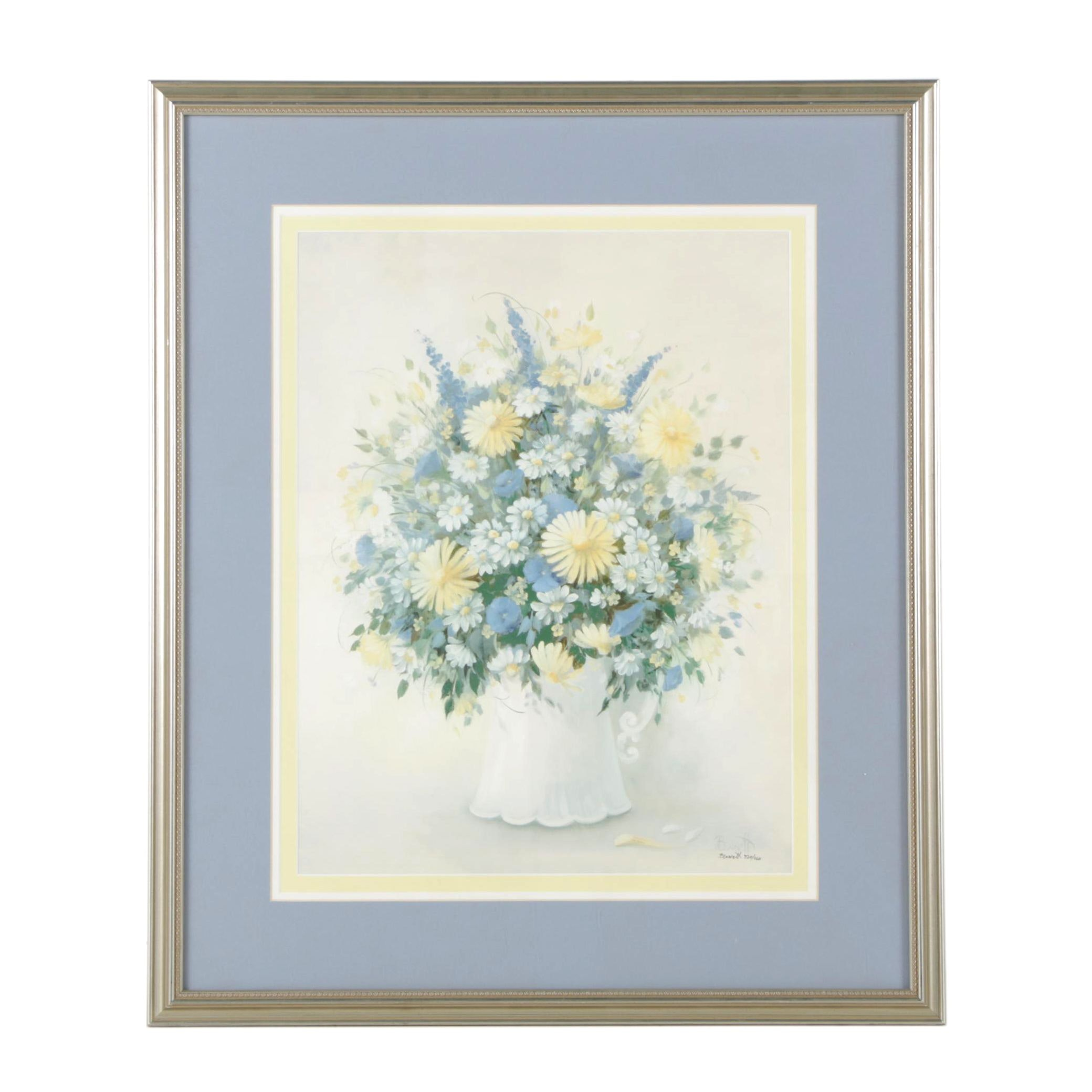 "Linda Bennett Limited Edition Giclee ""Fresh Cut Flowers"""