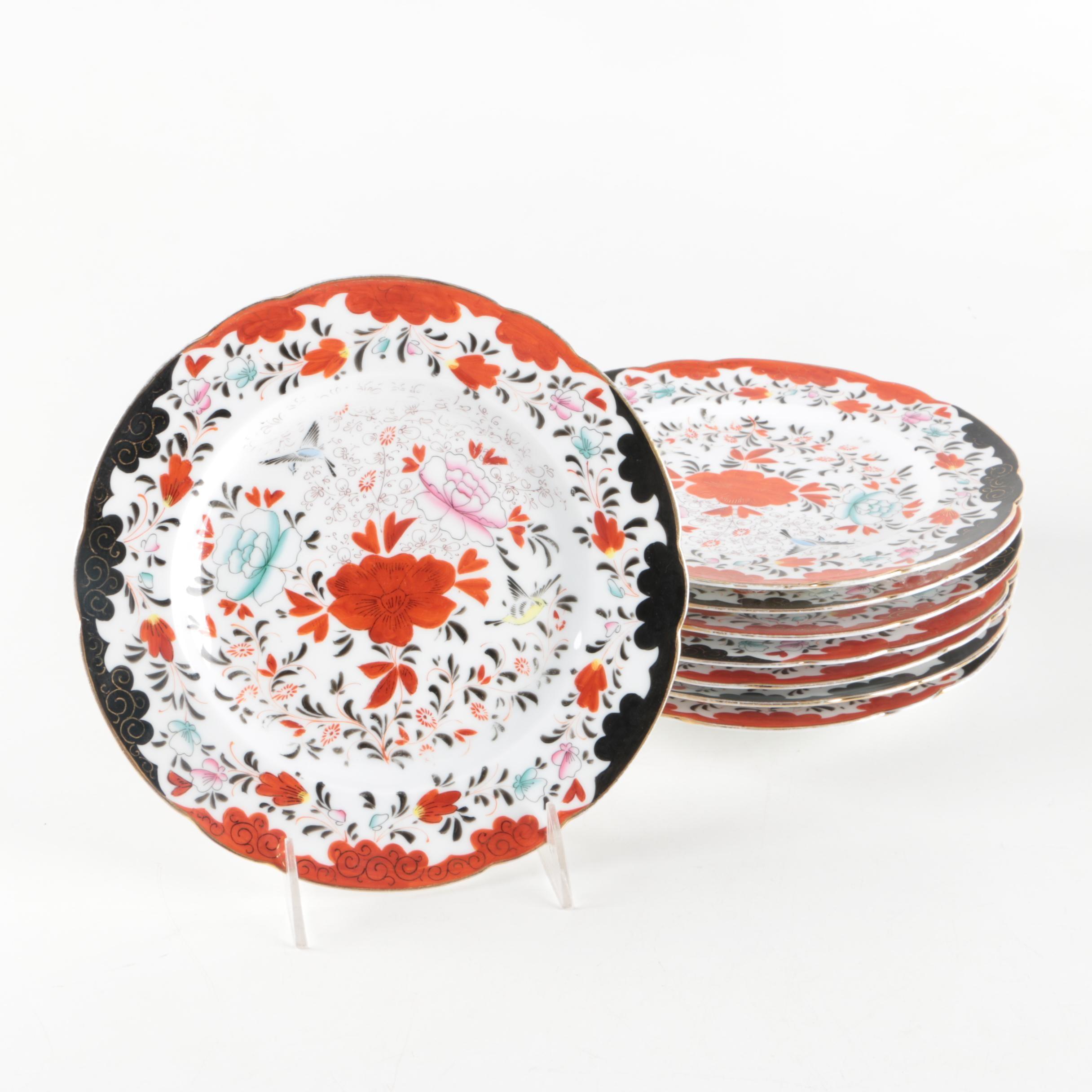 Imari Style Patterned Porcelain Plates