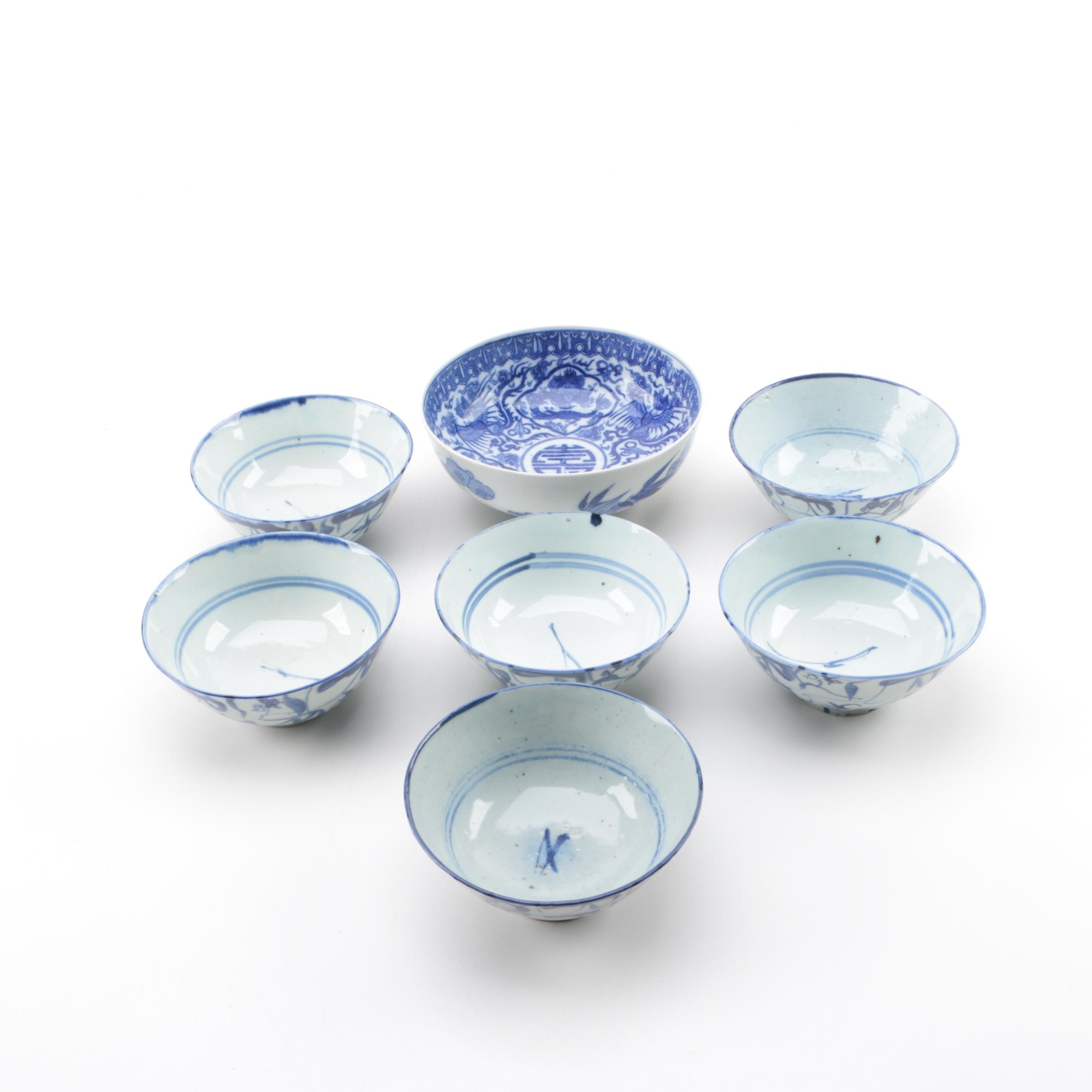 Hand-painted Chinese Porcelain Bowls