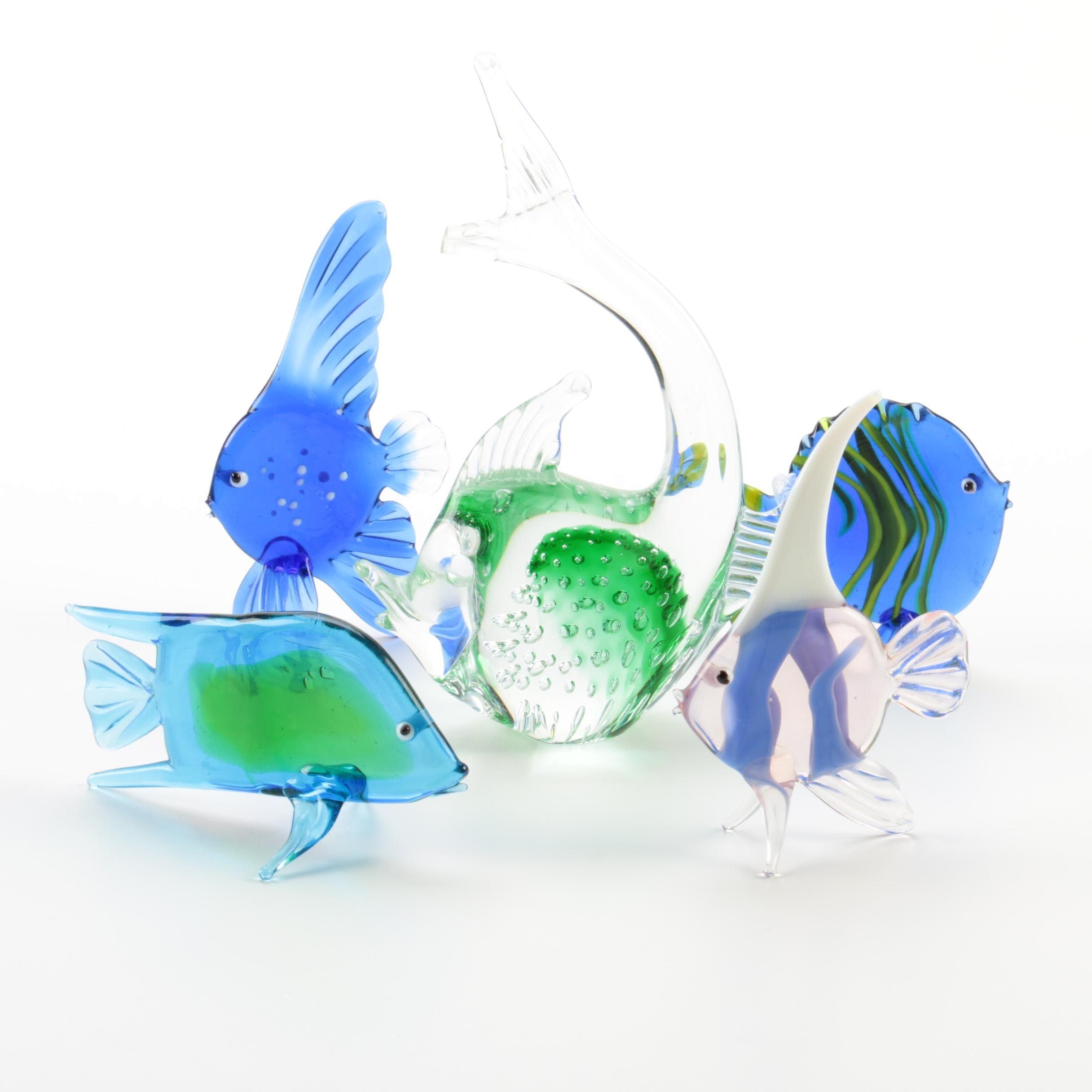 Glass Fish Figurines