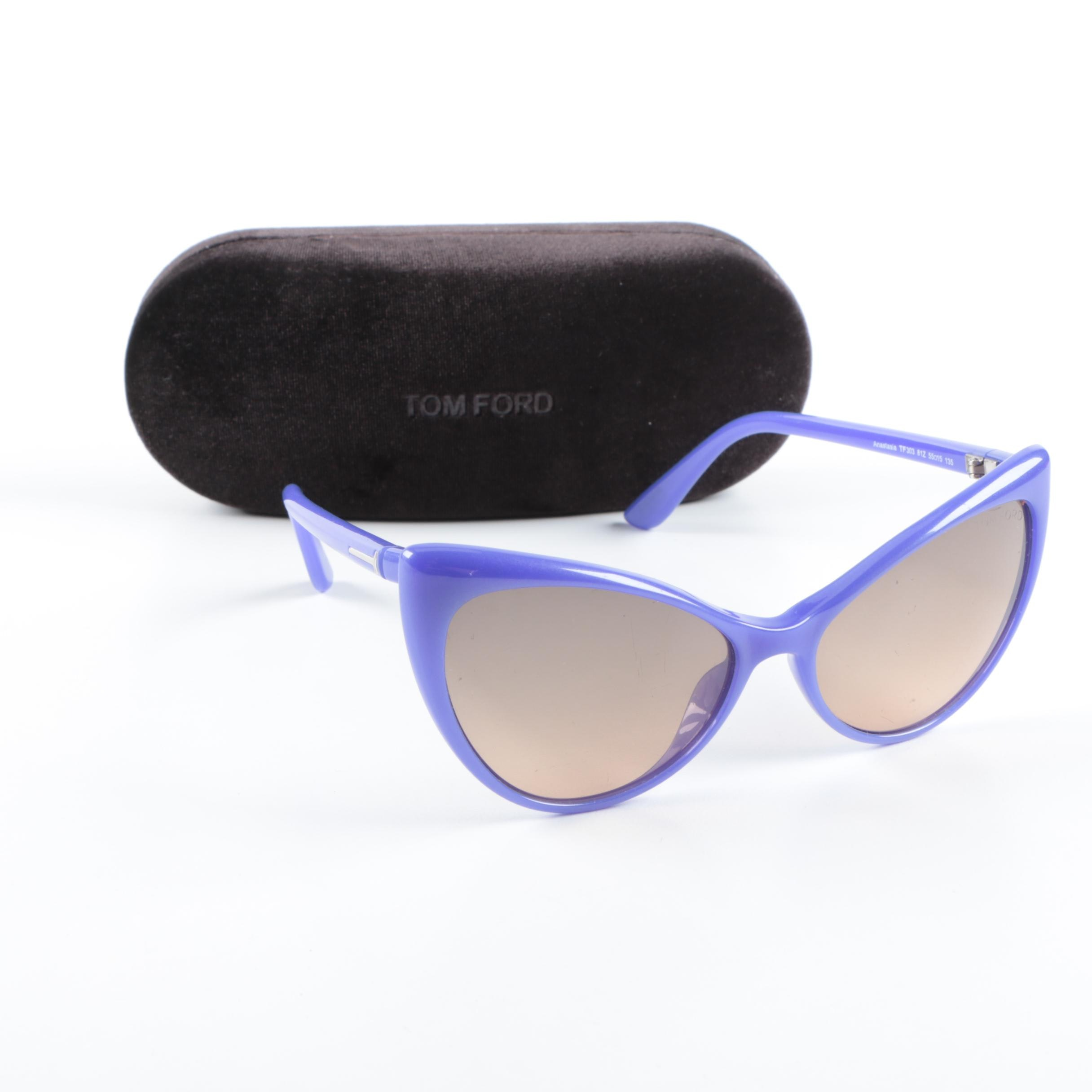 Tom Ford Anastasia Cat Eye Sunglasses with Case