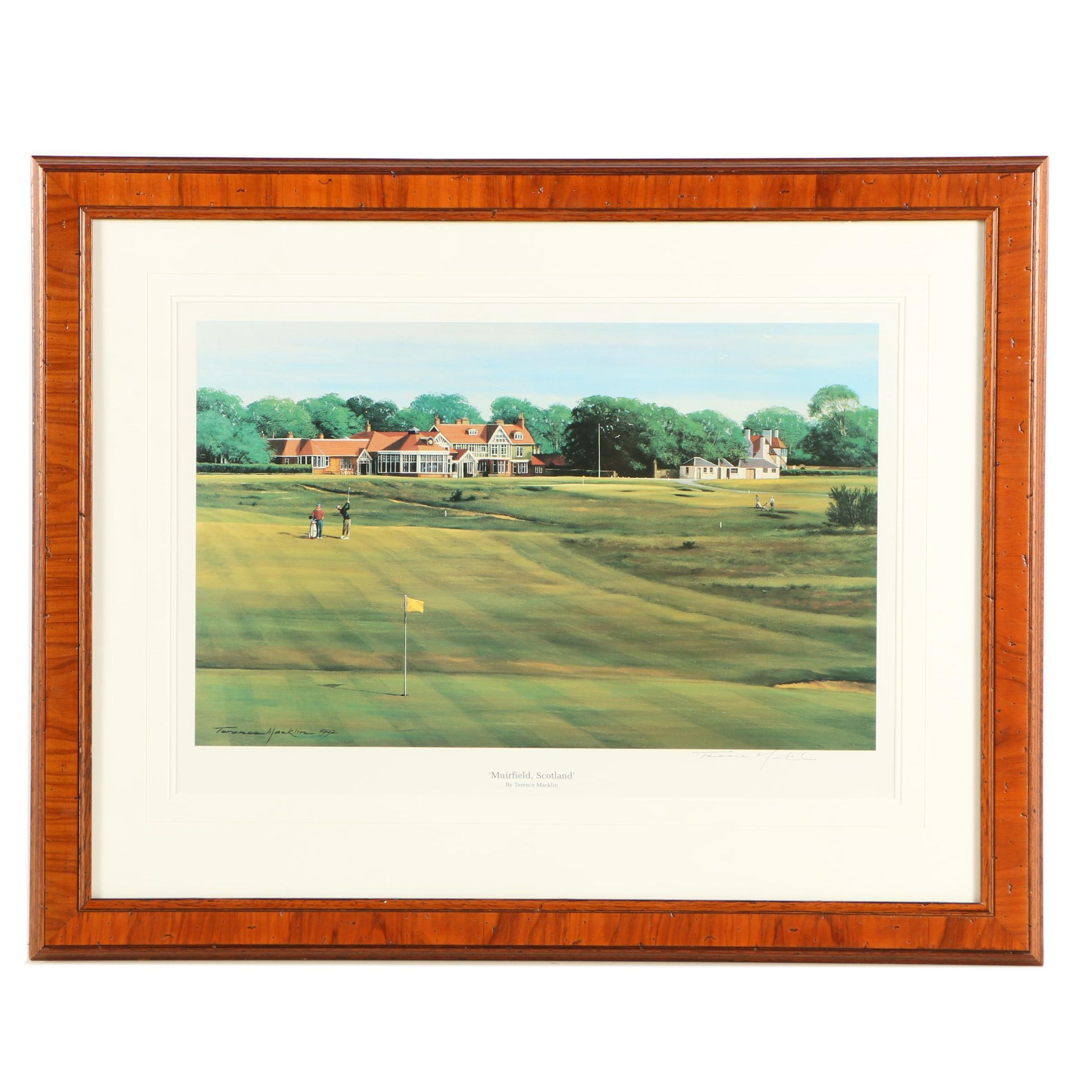 "Terence Macklin Offset Lithograph ""Muirfield, Scotland"""
