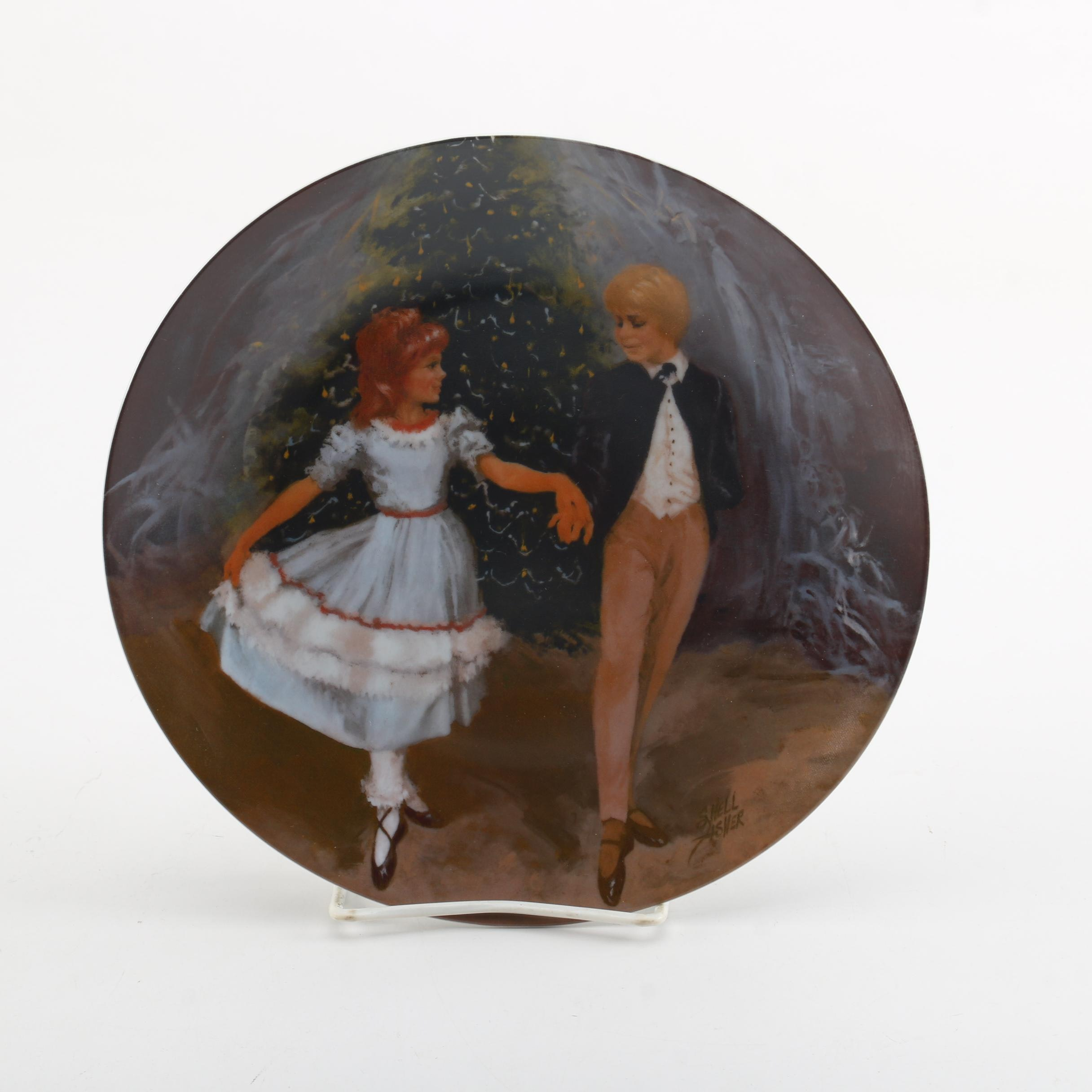 """1980 Shell Fisher """"Clara and the Prince"""" Collector's Plate"""
