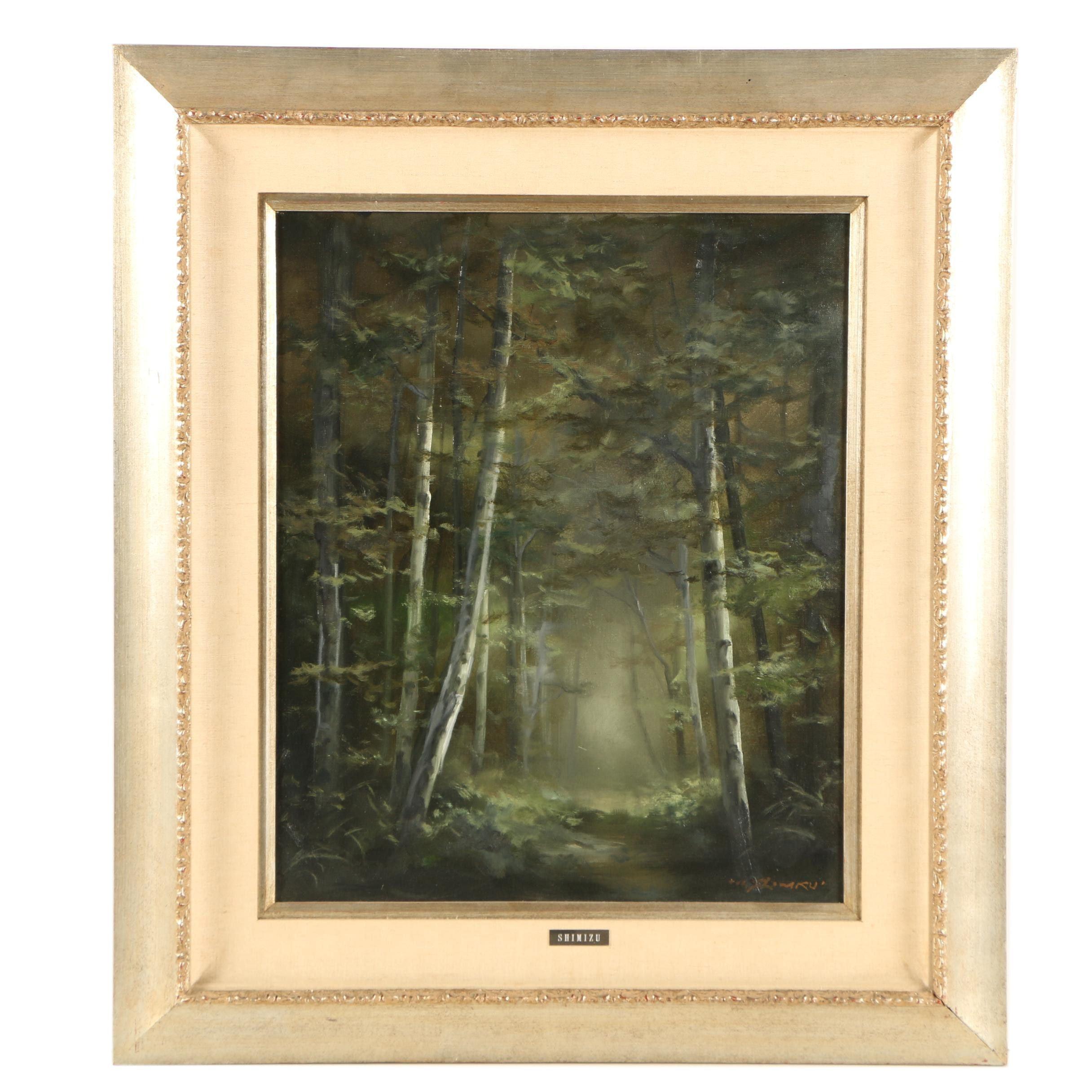 Mitsuzo Shimizu Oil Painting on Canvas