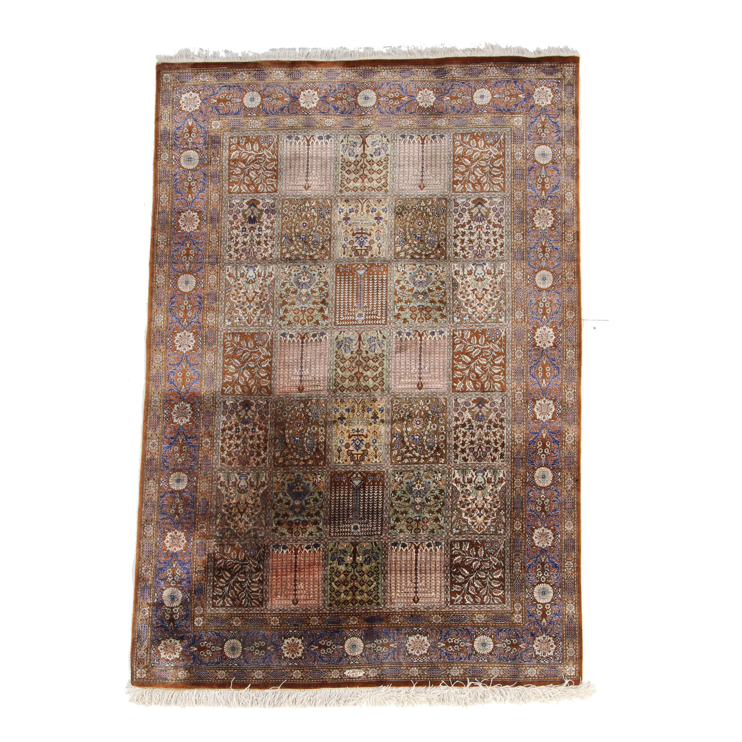 Hand-Knotted Art Silk Bakhtiari Area Rug