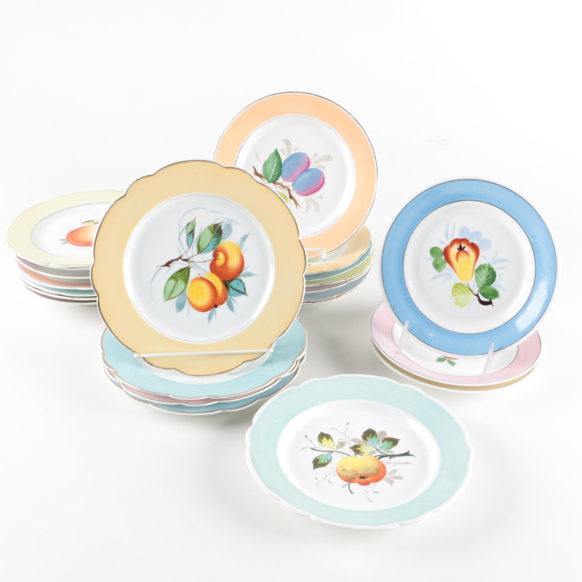Fruit Themed Porcelain Plates