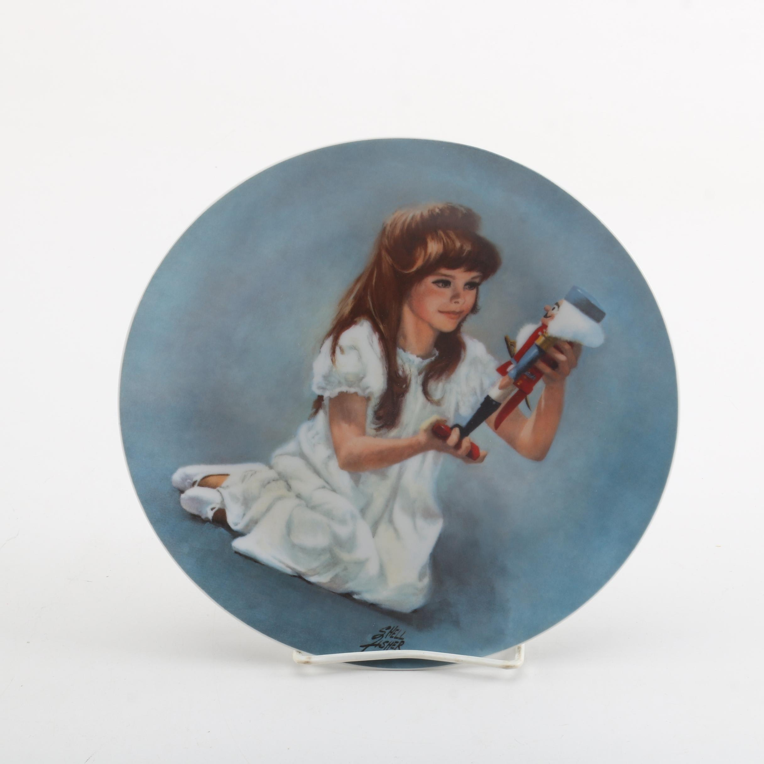 """1978 Shell Fisher """"Clara and Nutcracker"""" Collector's Plate"""