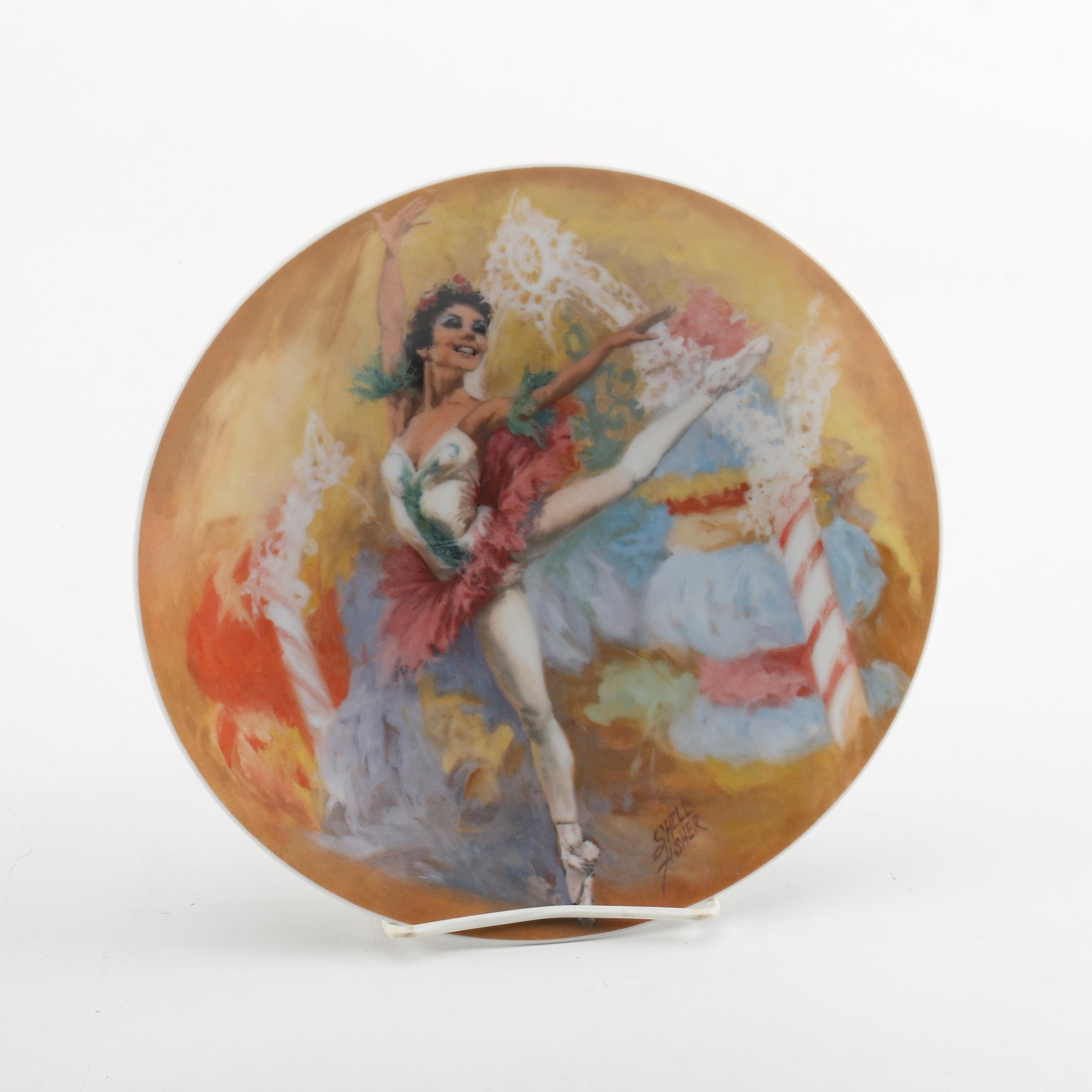 """1979 Shell Fisher """"Sugar Plum Fairy"""" Collector's Plate"""