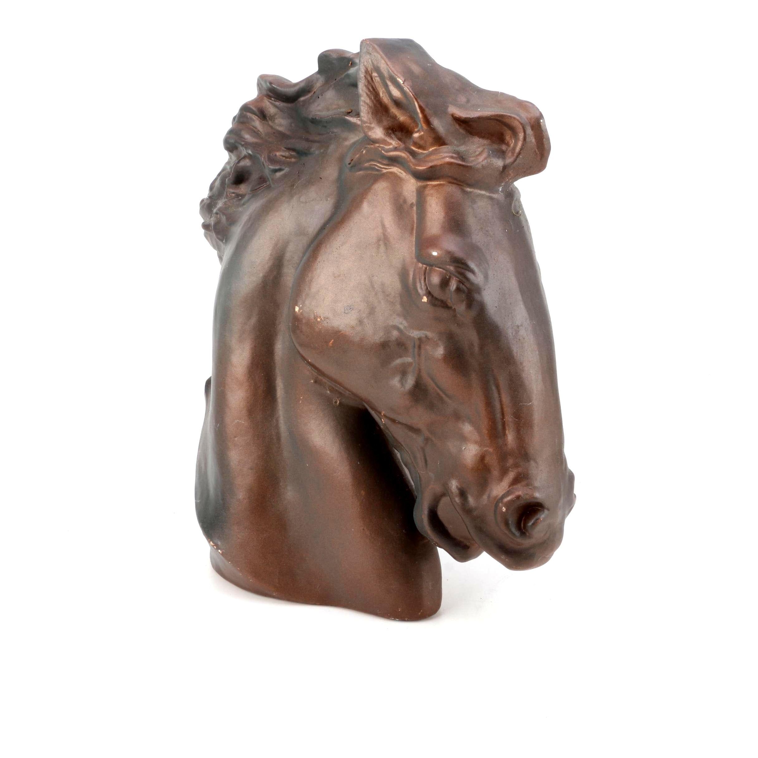 Bronze Tone Horse Bust