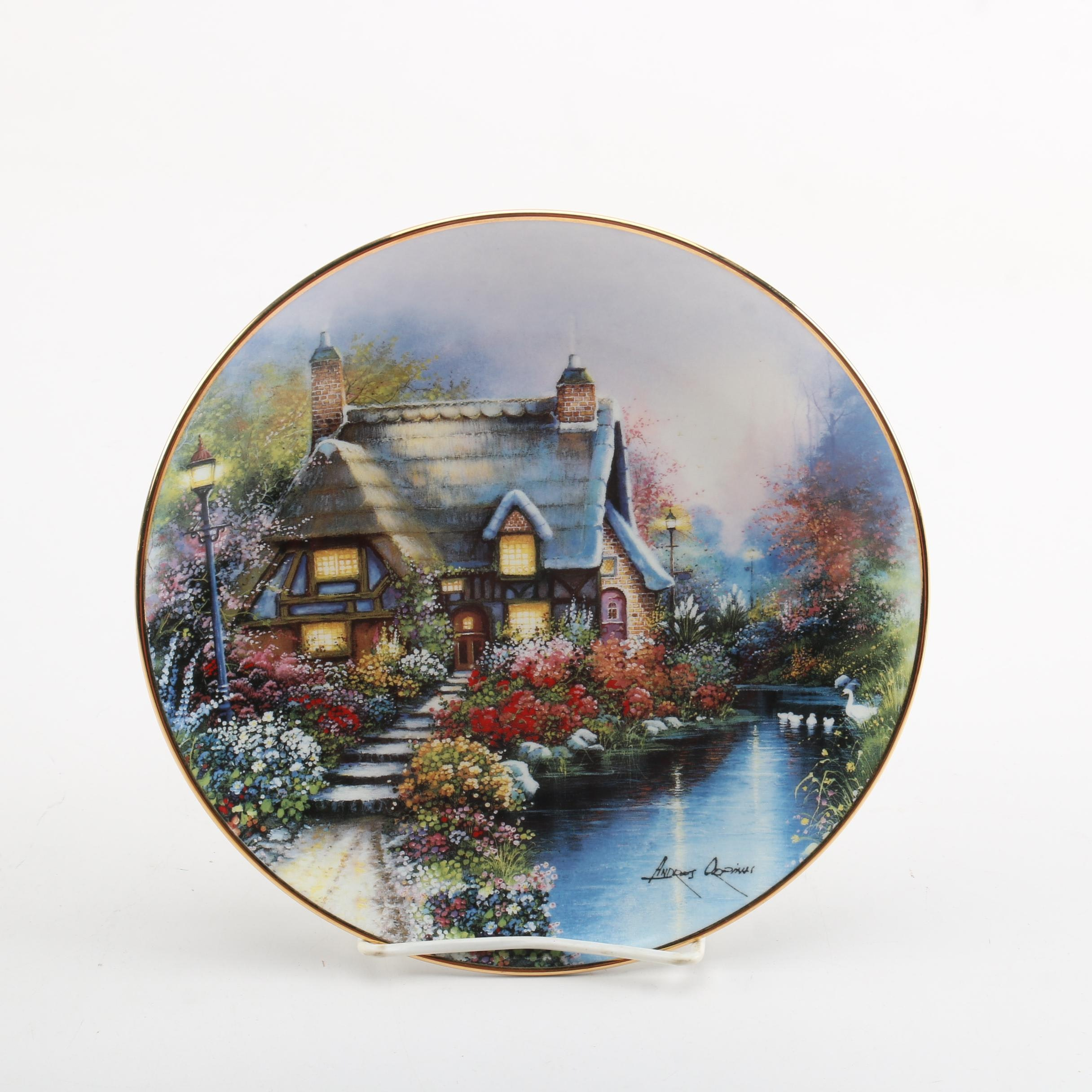 """Royal Doulton """"The Cottage on Lamp Post Stream"""" Collector Plate"""