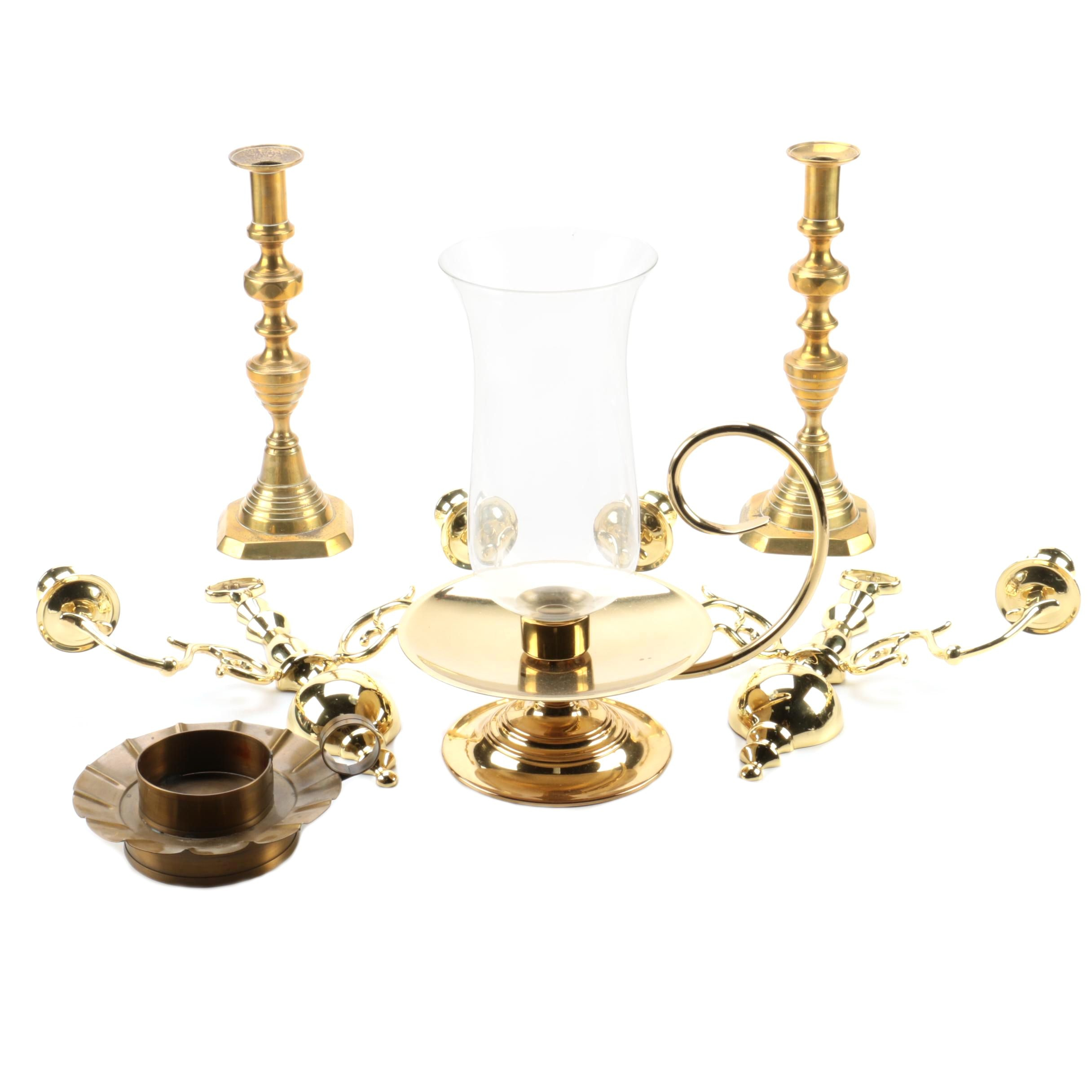 Brass Candle Holders and Sconces