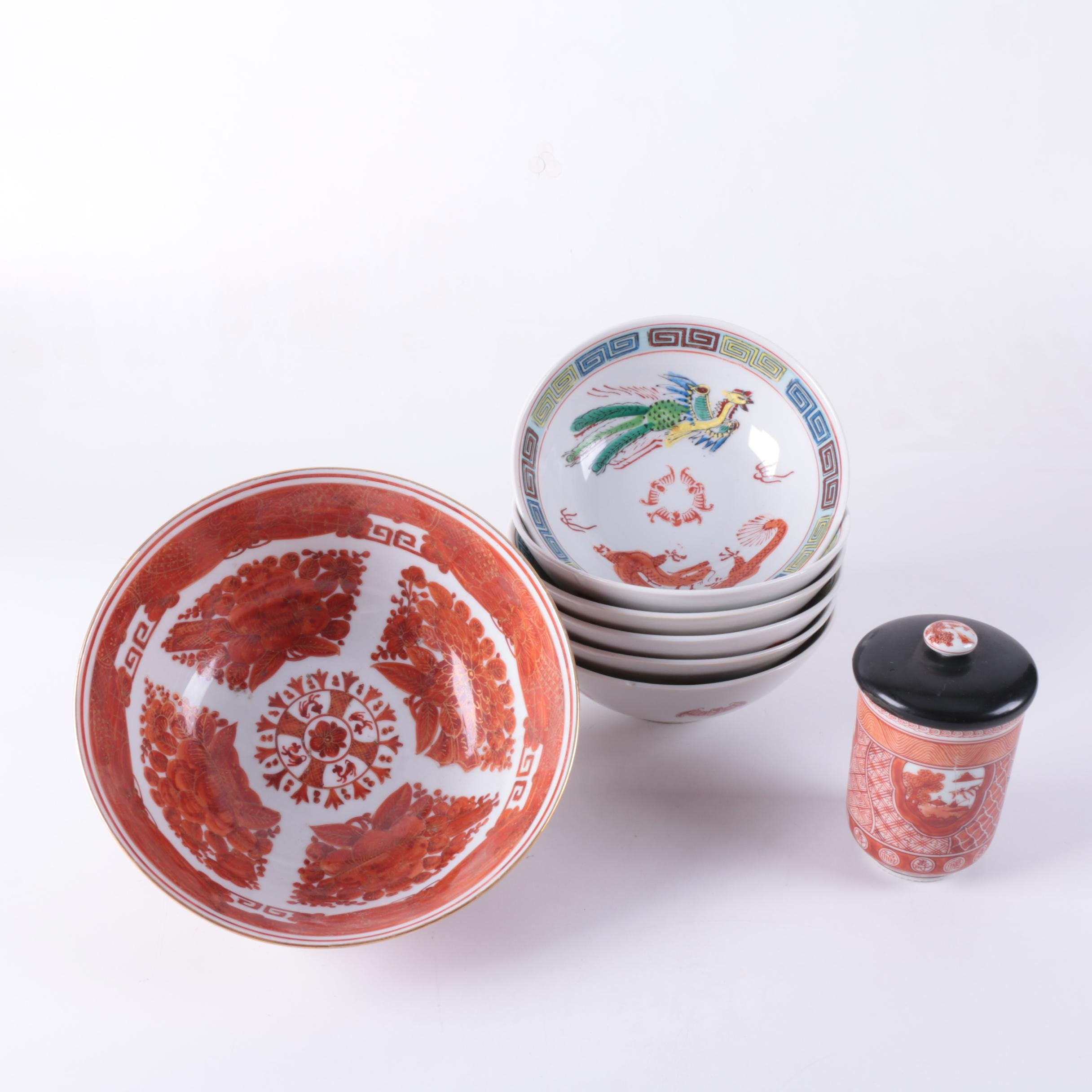 Chinese Porcelain Bowls and Tea Mug