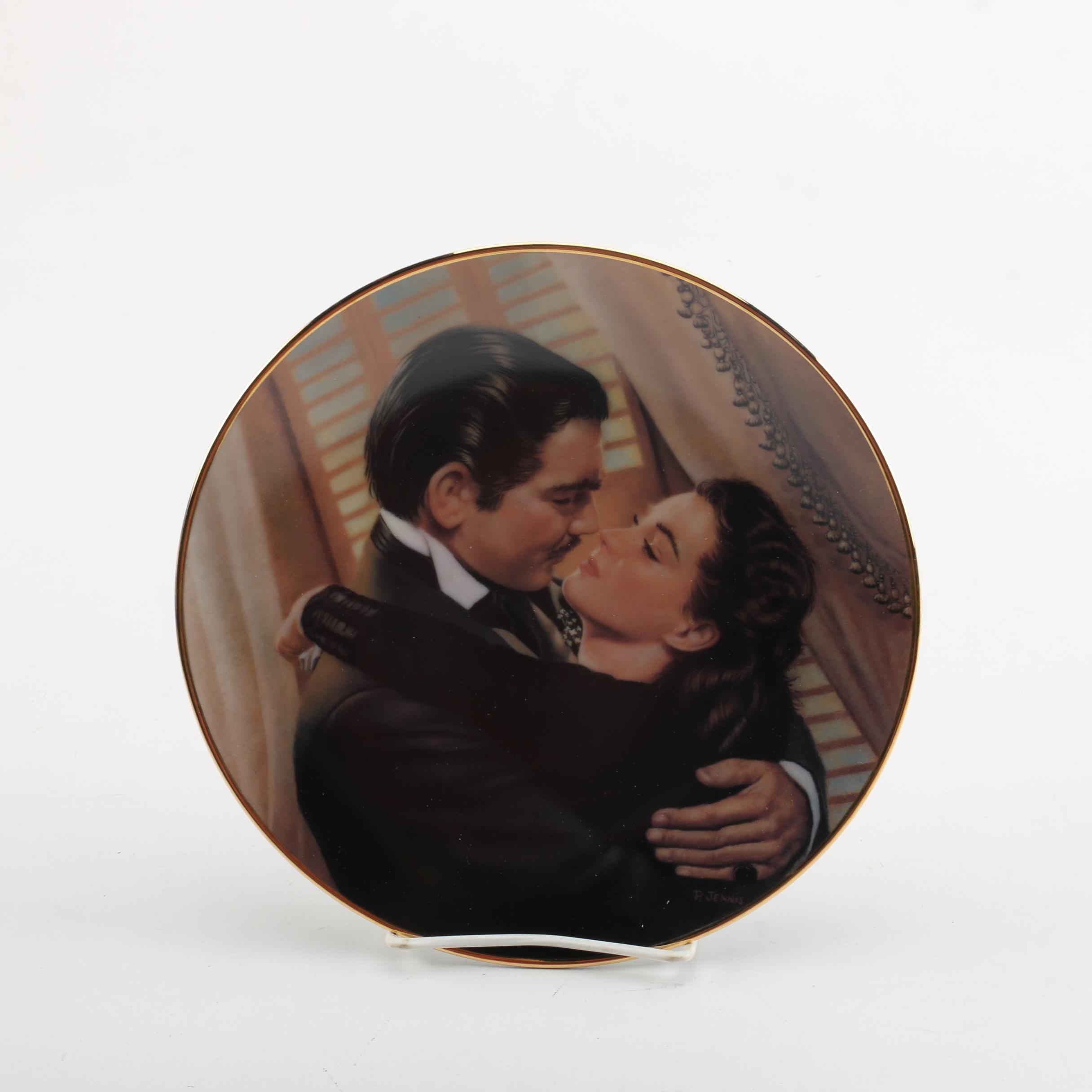 """Vintage Paul Jennis """"Marry Me Scarlett!"""" Decorative Porcelain Plate"""