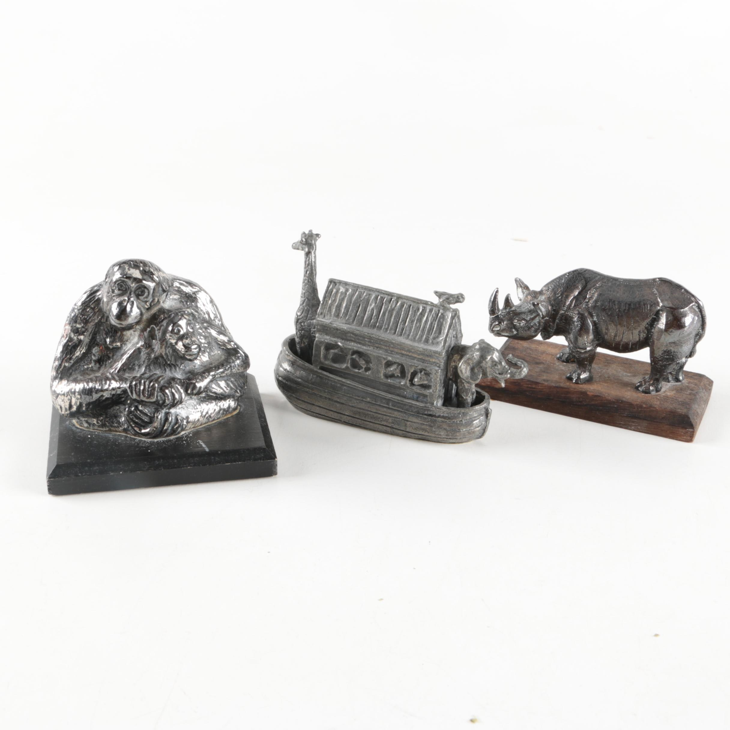 World Wildlife Fund Metal Animal Figurines