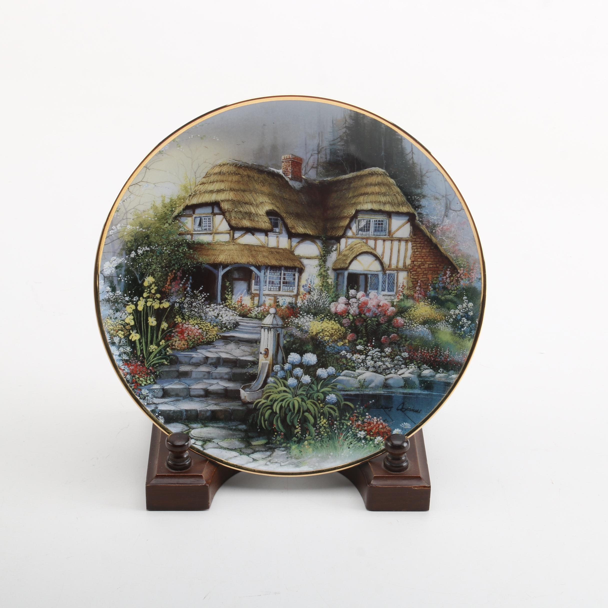 """Orpinas Cottages by Franklin Mint """"Country Retreat"""" Decorative Plate"""