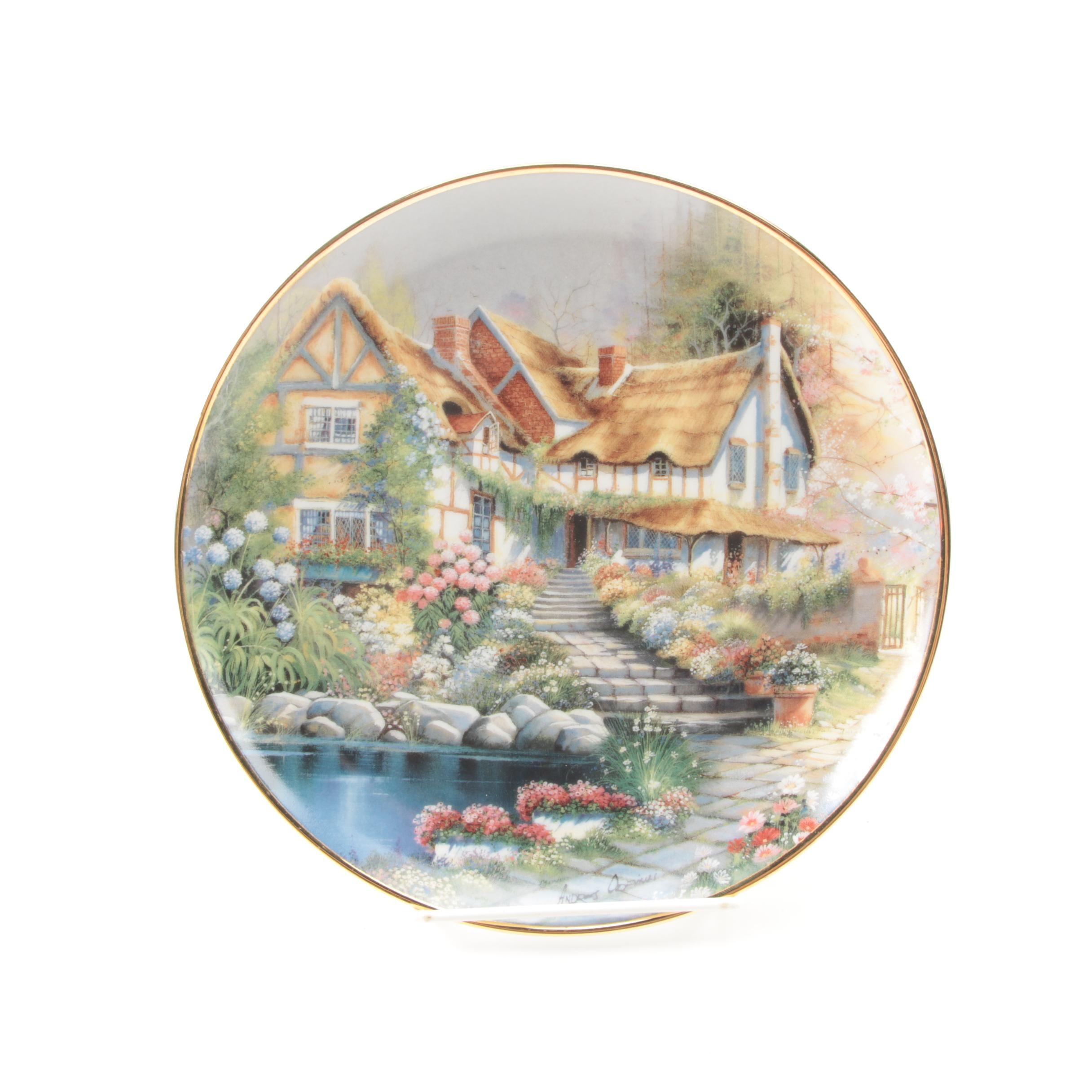 "Limited Edition Franklin Mint ""Cobblestone Cottage"" Collector Plate"