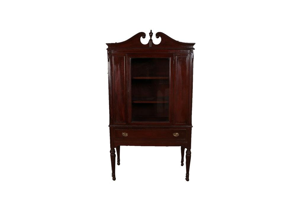 Vintage Sheraton Style China Cabinet