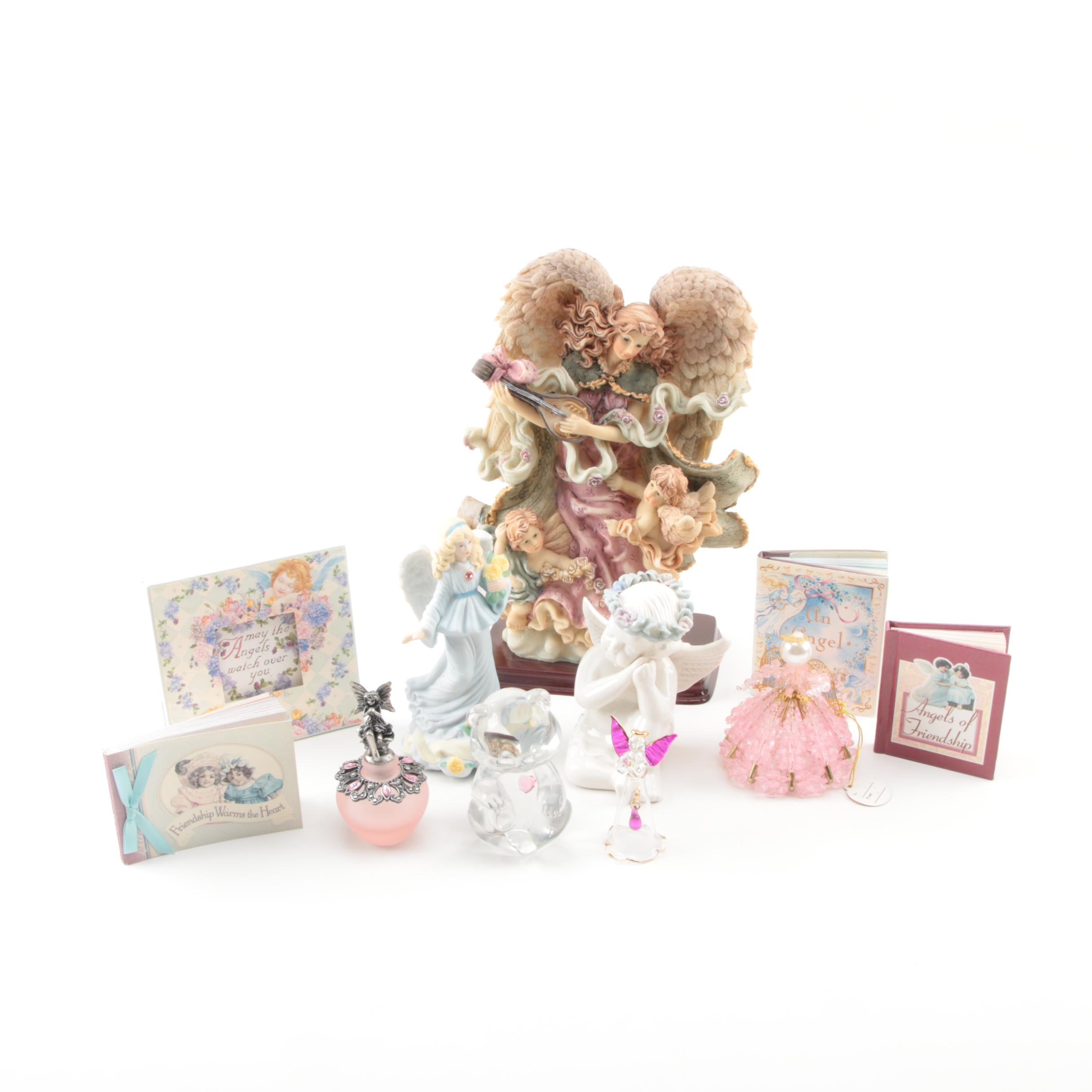Angel Figurines and Miniature Books