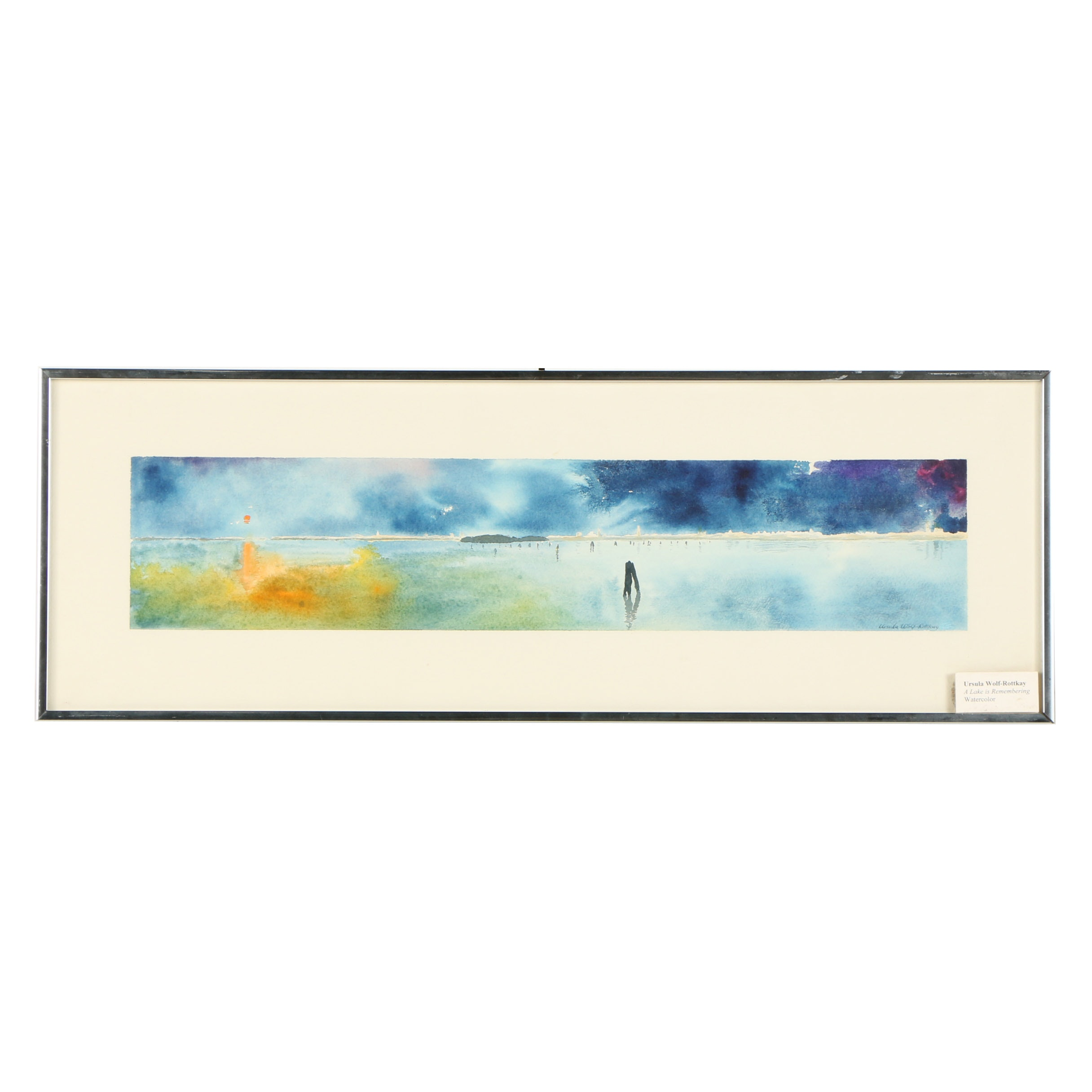 """Ursula Wolf-Rottkay Watercolor """"A Lake is Remembering"""""""