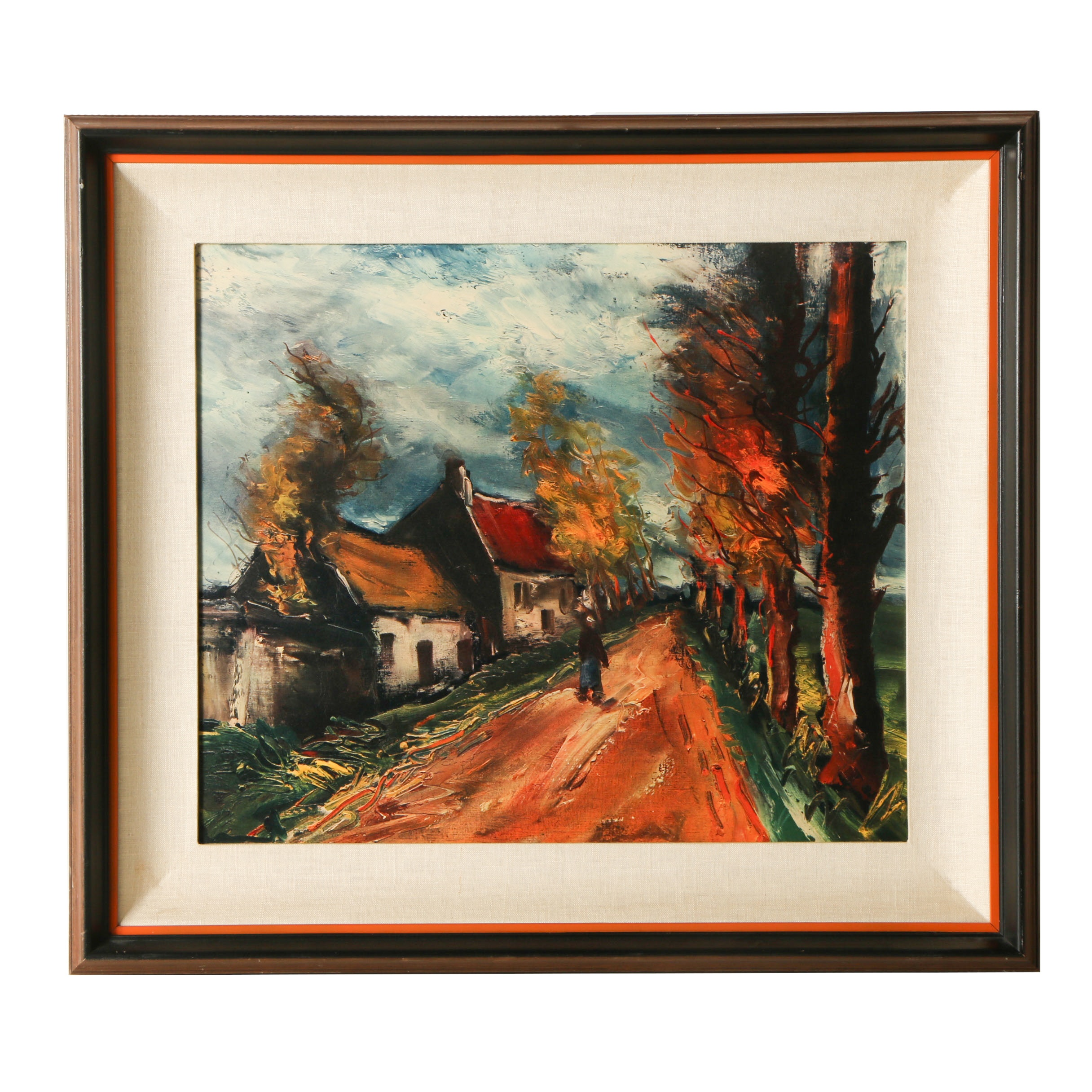 Offset Lithograph after Painting of Country Road