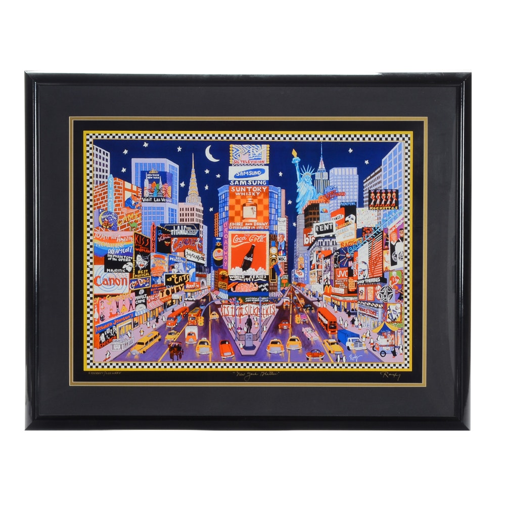 "Roxy Limited Edition Giclee Print ""New York Glitter"""