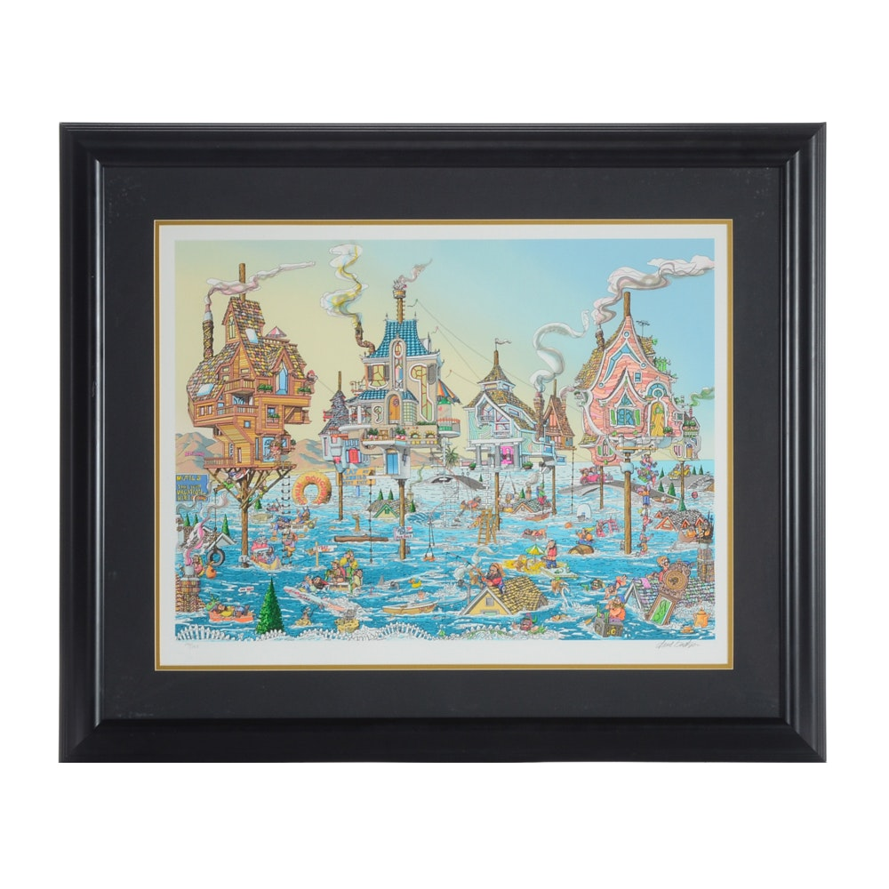 "David Badger Limited Edition Serigraph ""High Tide"""