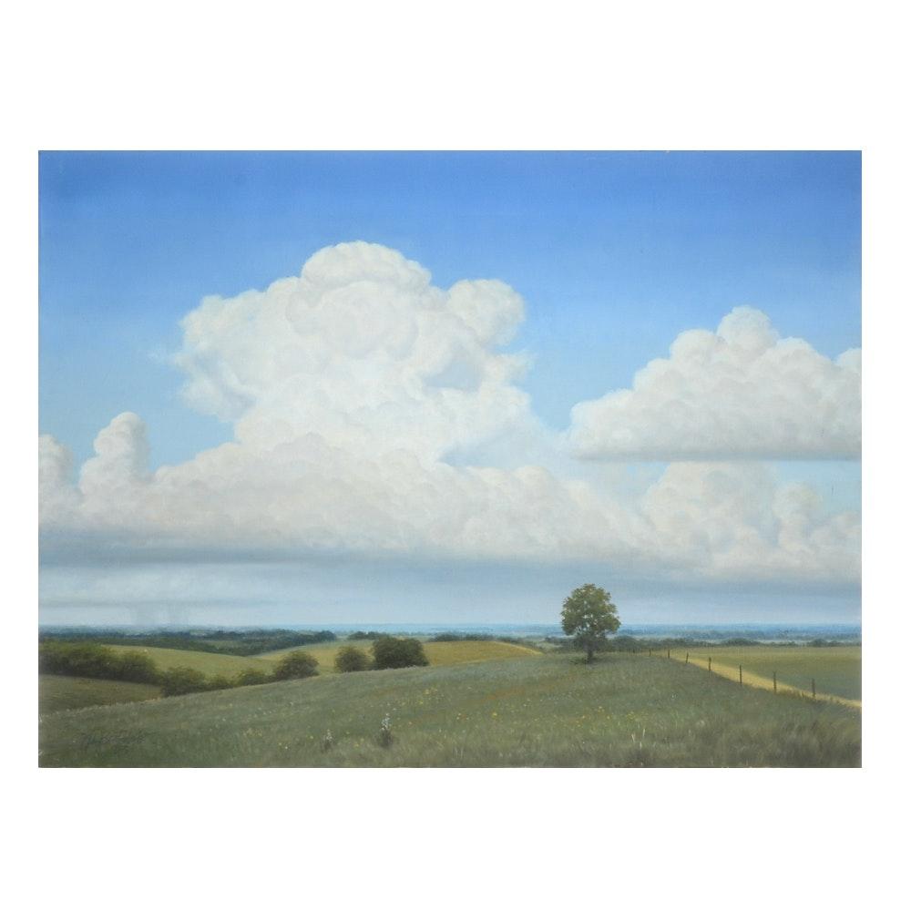 John Boatright Oil on Canvas Landscape Painting