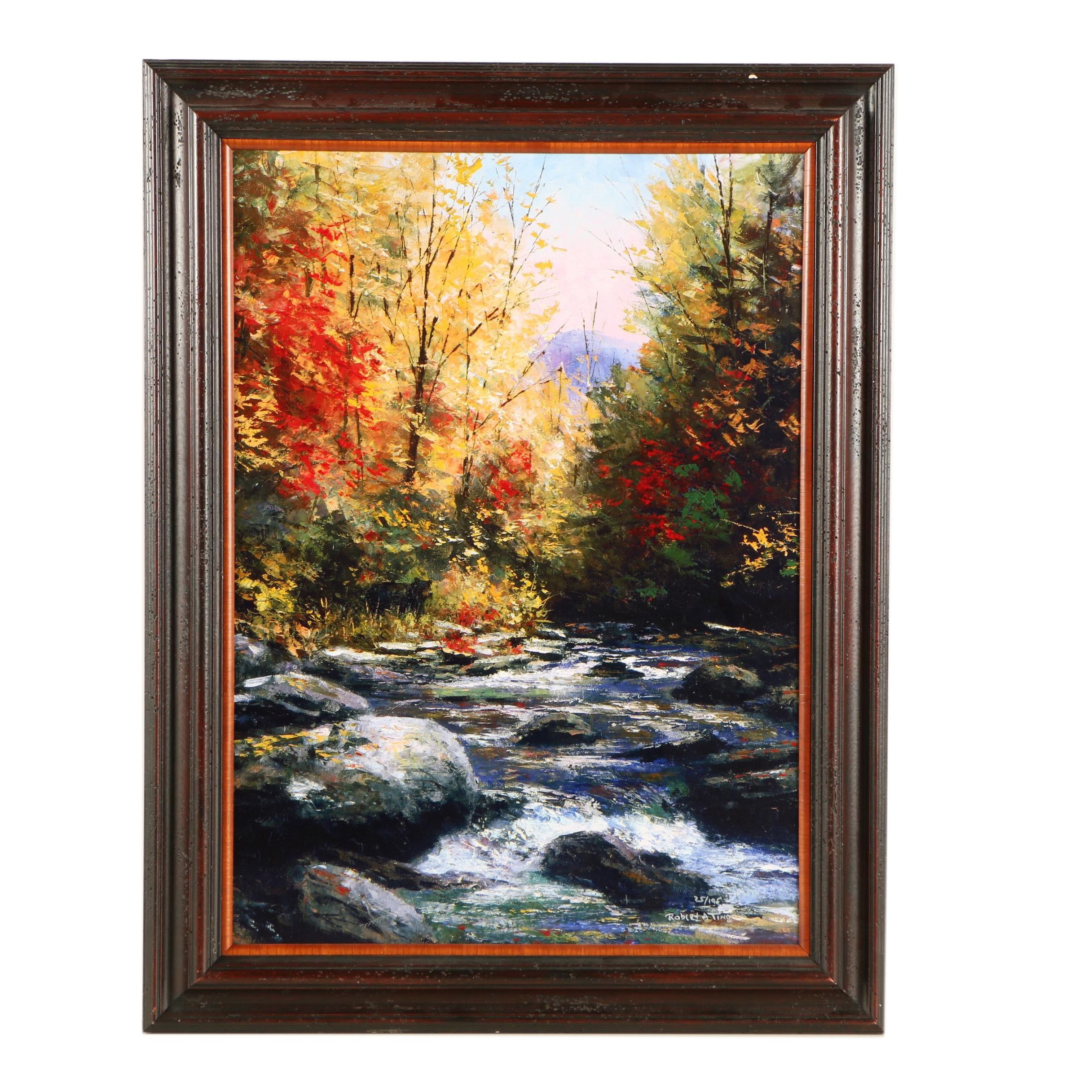 "Robert A. Tino Limited Edition Giclée ""Cool Waters Running"""