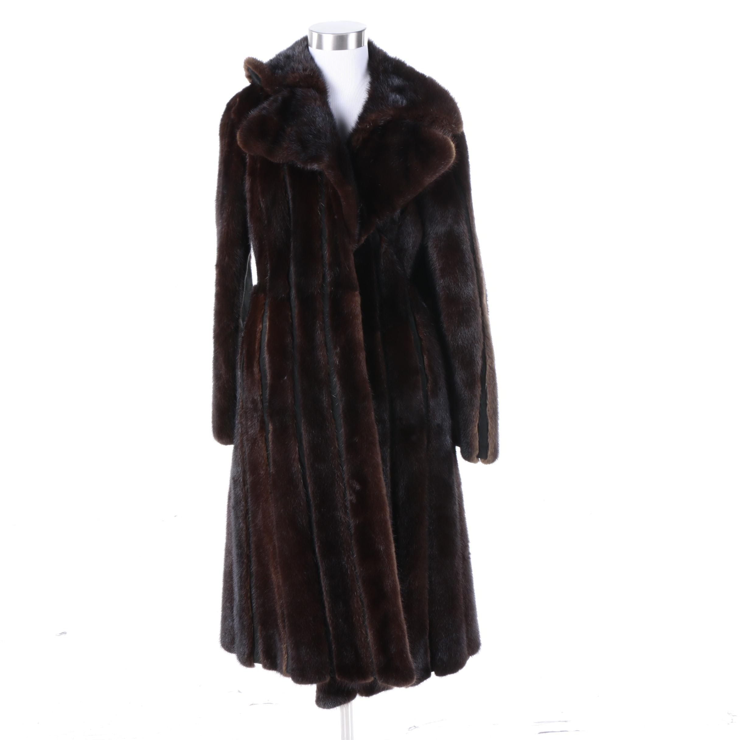 Circa 1970s Vintage Mink and Suede John Tauben Fur Coat