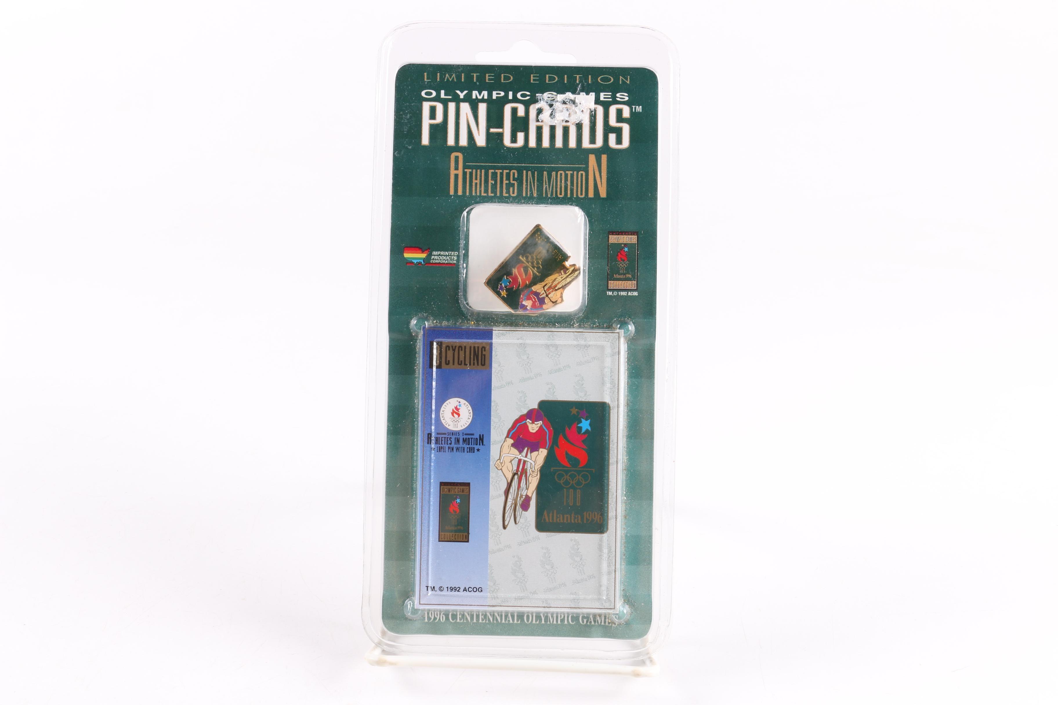 1996 Summer Olympics Commemorative Cycling Lapel Pin