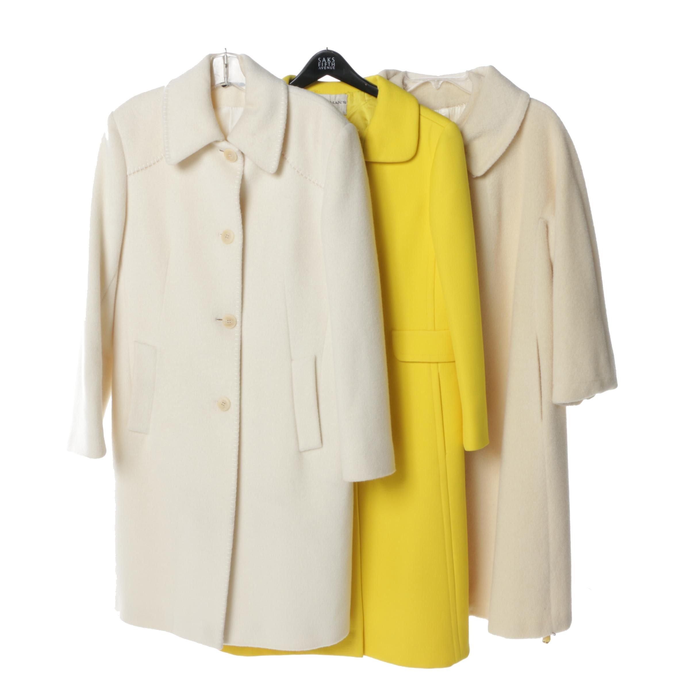 Women's Vintage Cashmere Coats Including Cinzia Rocca