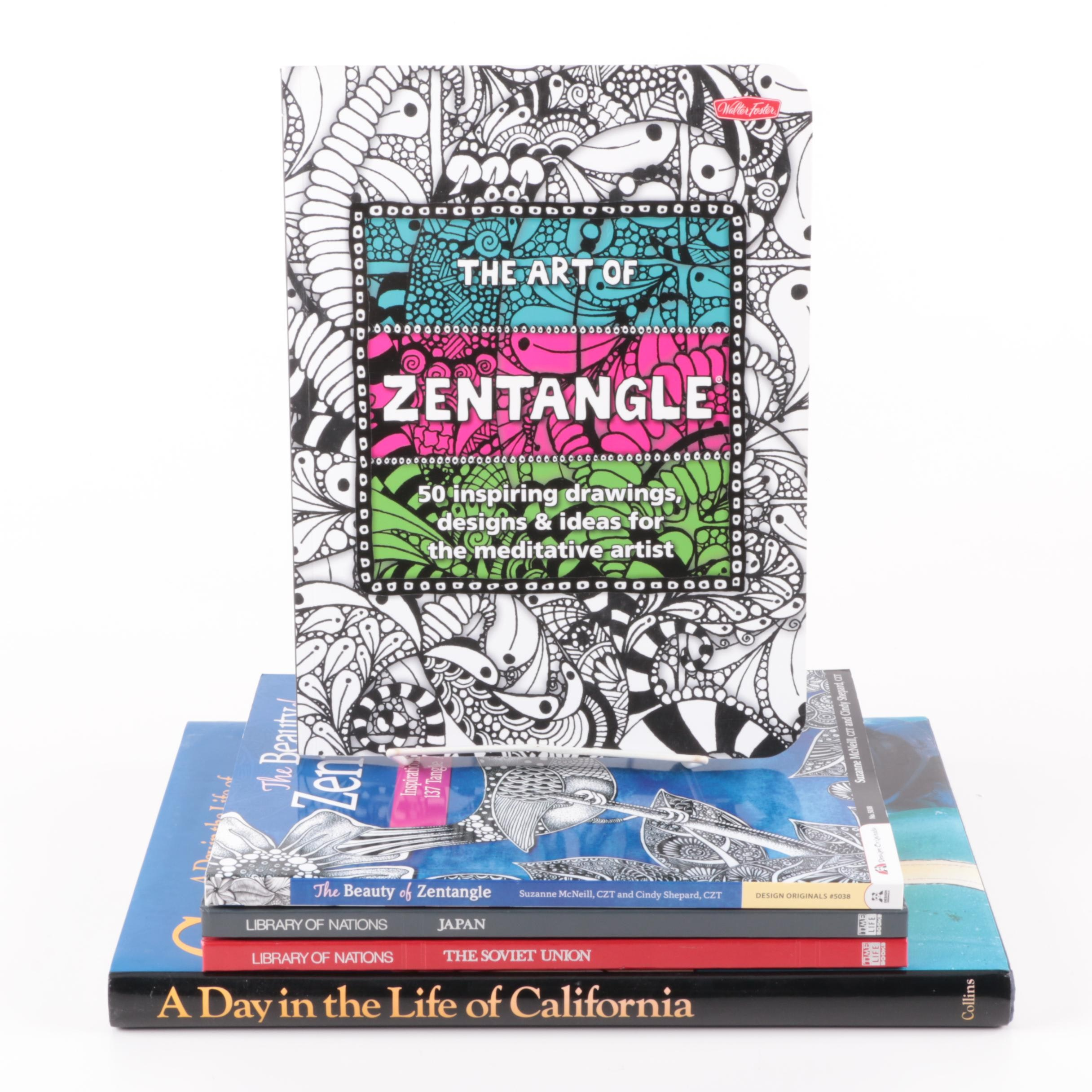 """Assorted Books Including 1988 """"A Day in the Life of California"""""""