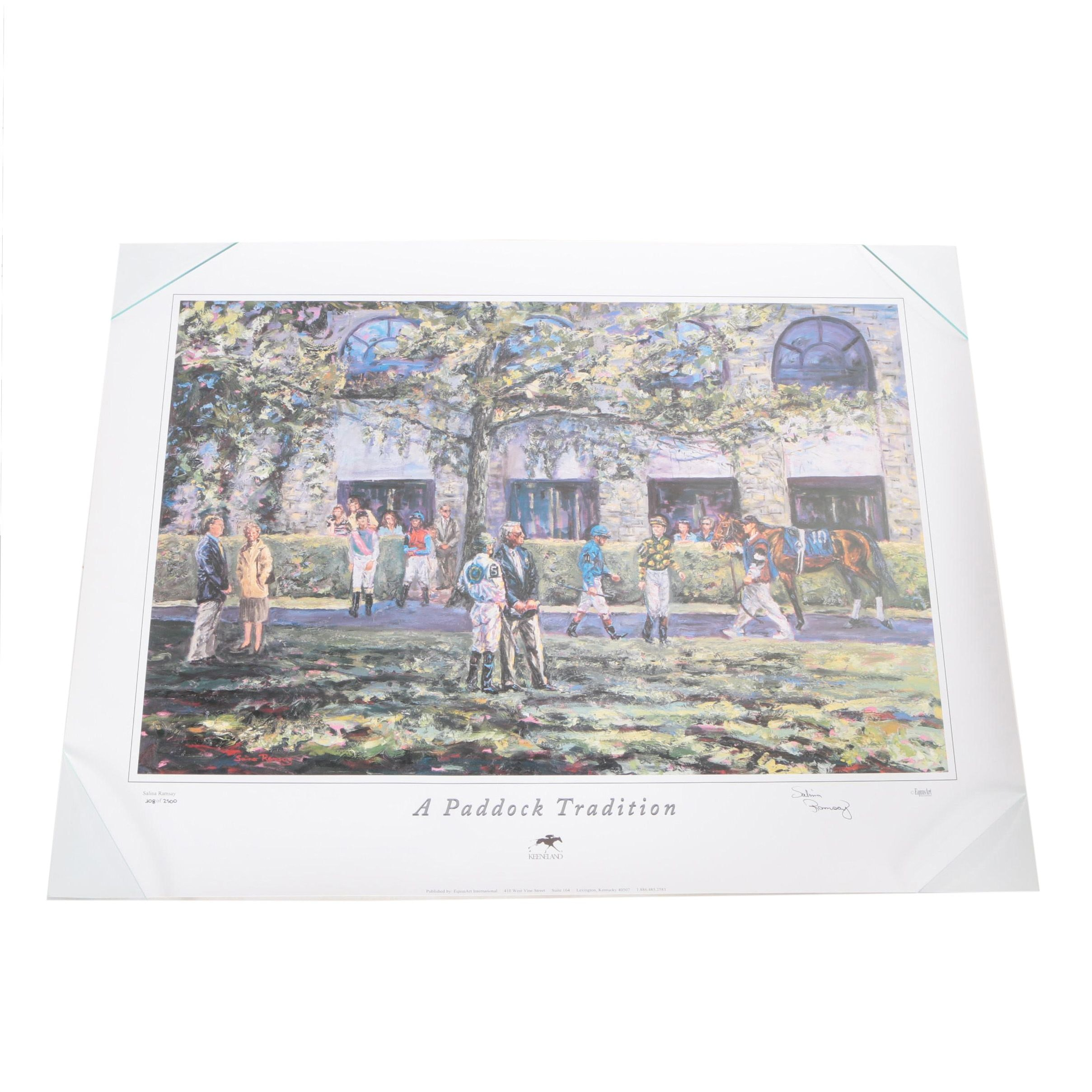 "Salina Ramsey Limited Edition Offset Lithograph ""A Paddock Tradition"""