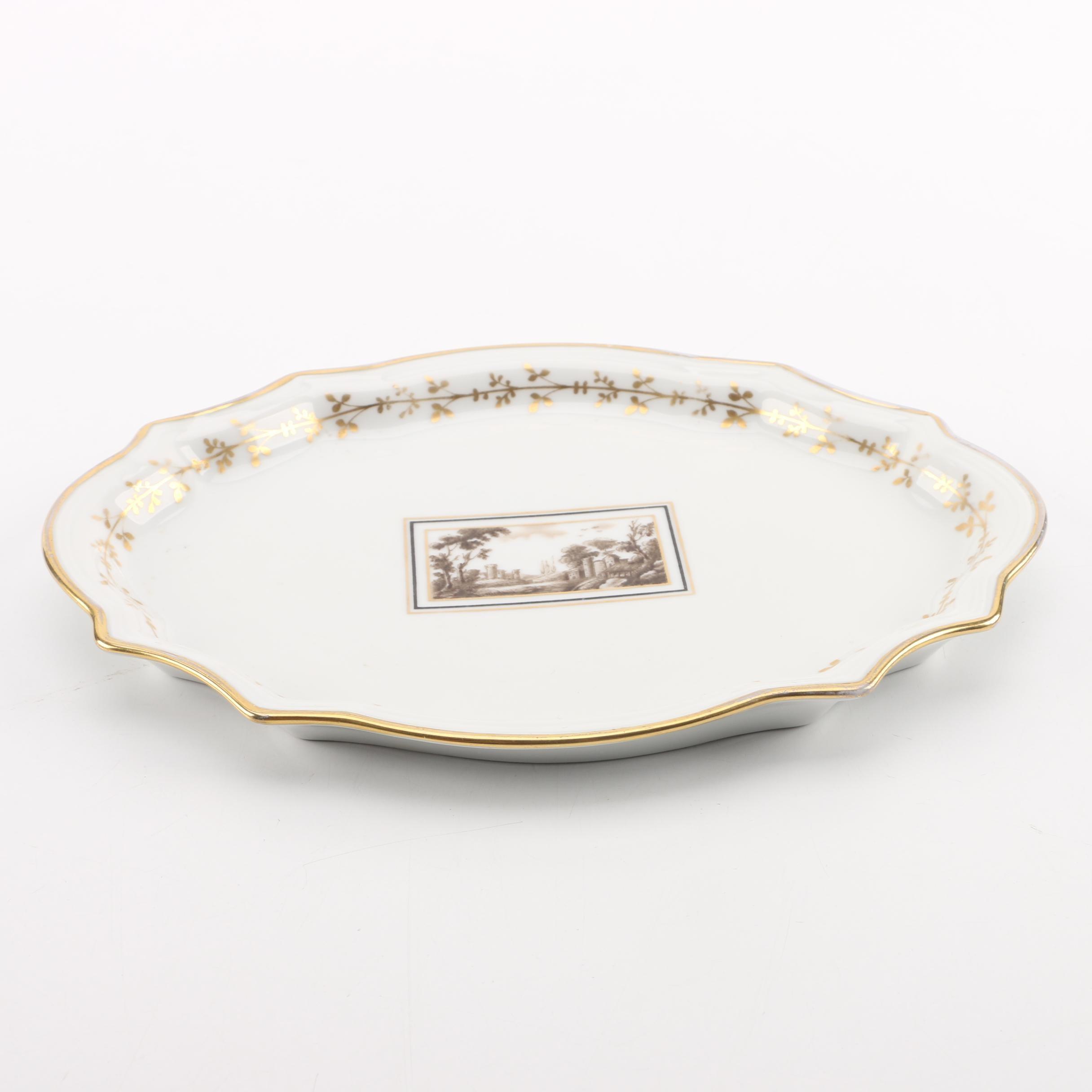 """Vintage Pittoria Richard Ginori """"Fiesole"""" Italian Scene Platter"""