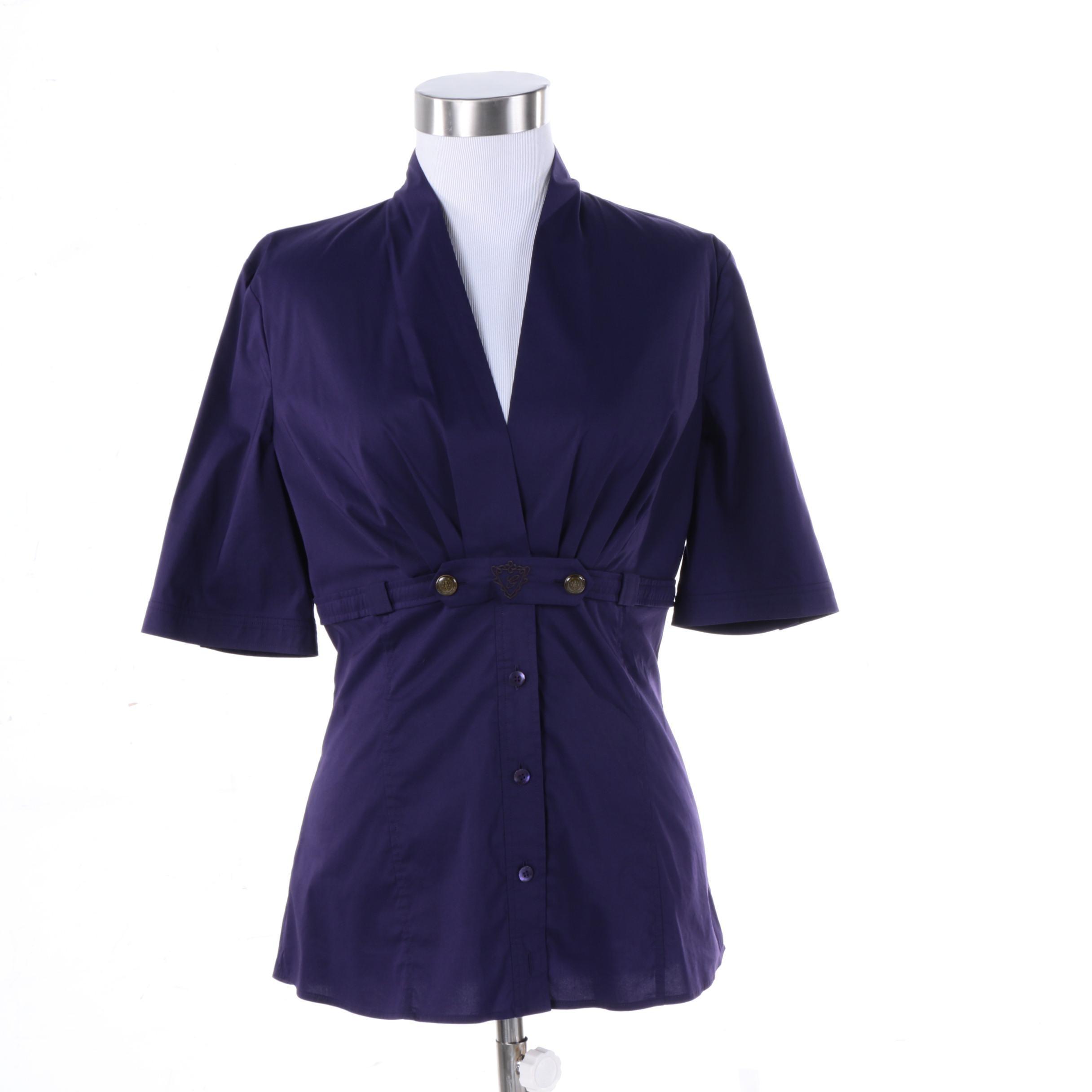 Gucci Byzantium Purple Blouse