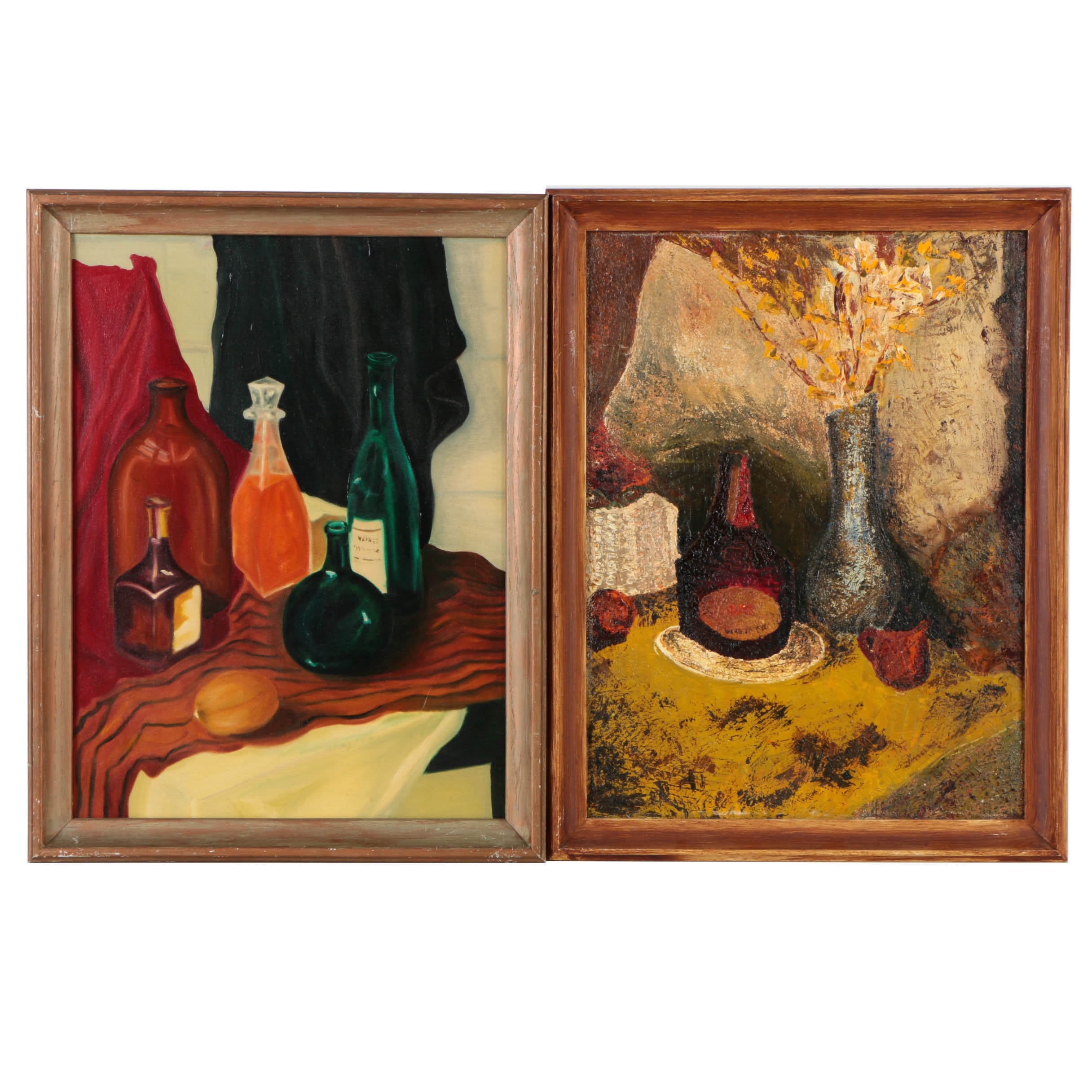 Pair of D.A. Granger Still Life Oil Paintings