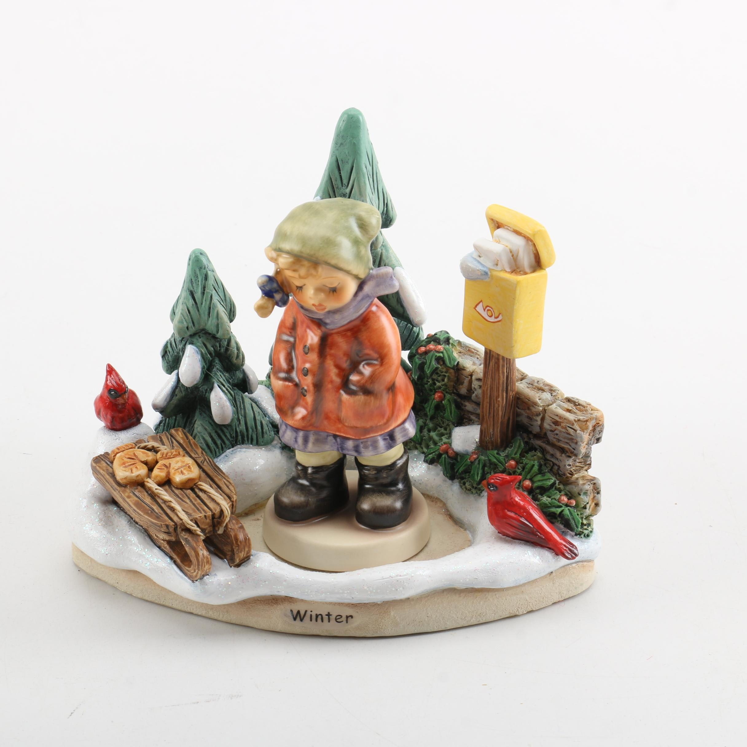 """Goebel """" Winter Magic"""" and """"All Bundled Up"""" Two Piece Figurine"""