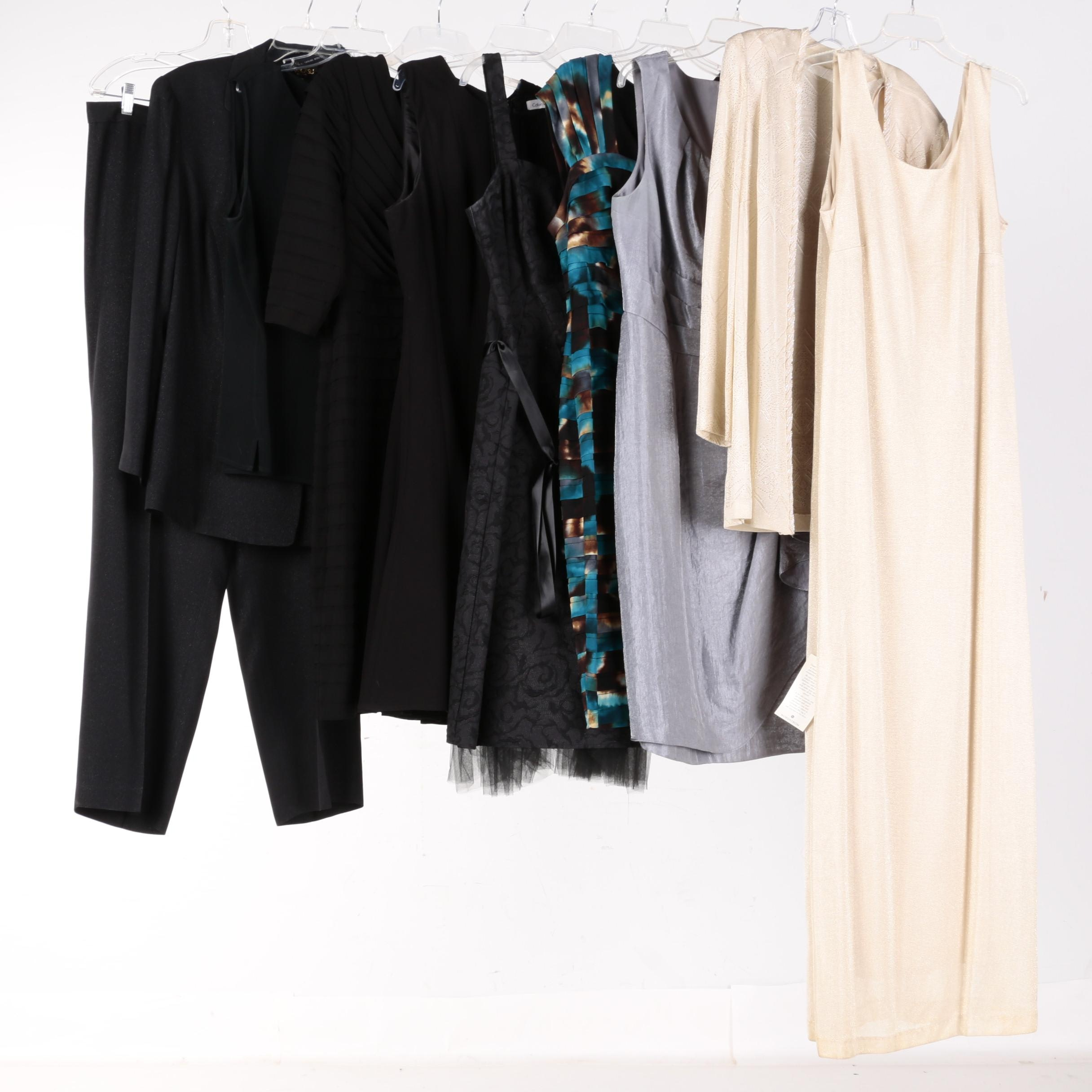 Women's Separates and Dresses Including Calvin Klein and Alex Evenings