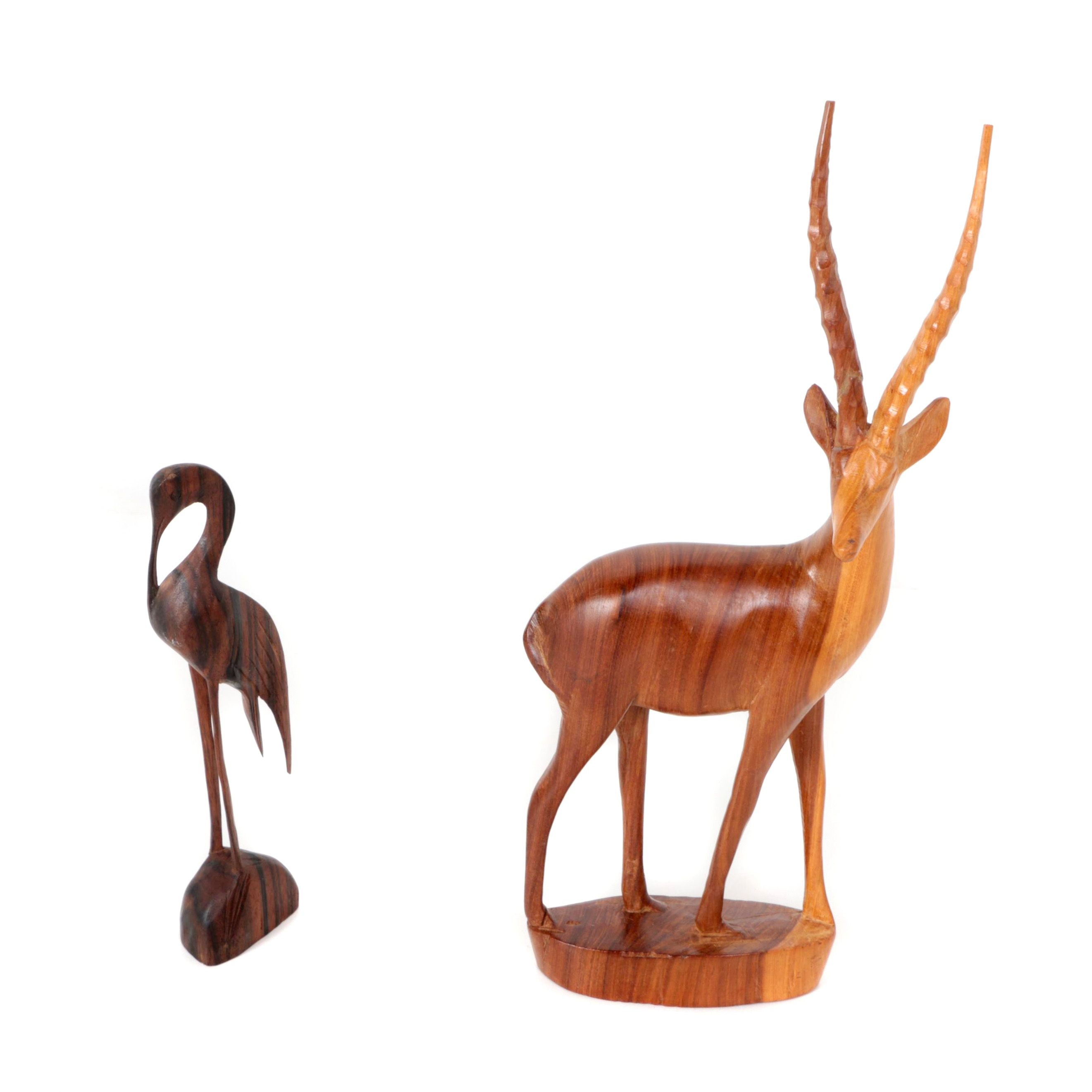 Carved Wood Animal Figurines