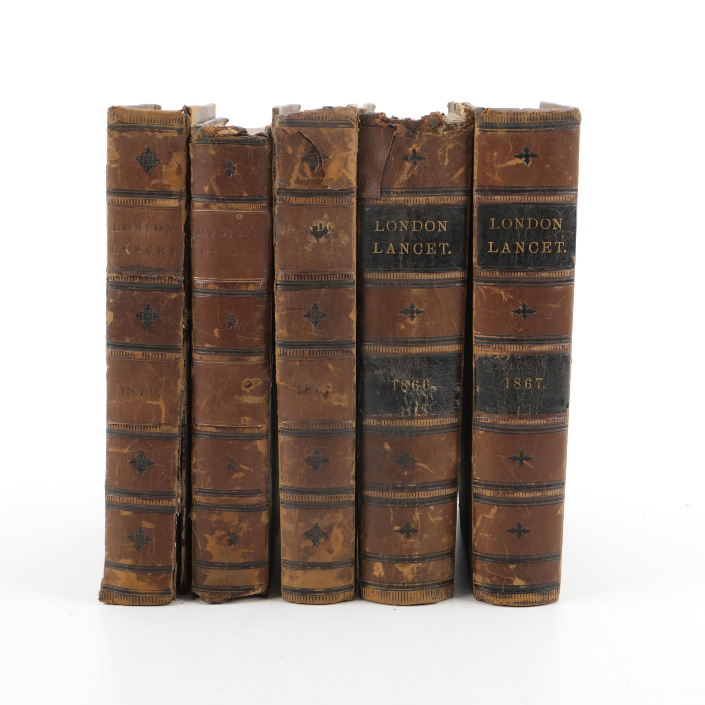 "1860s Bound ""The London Lancet"""
