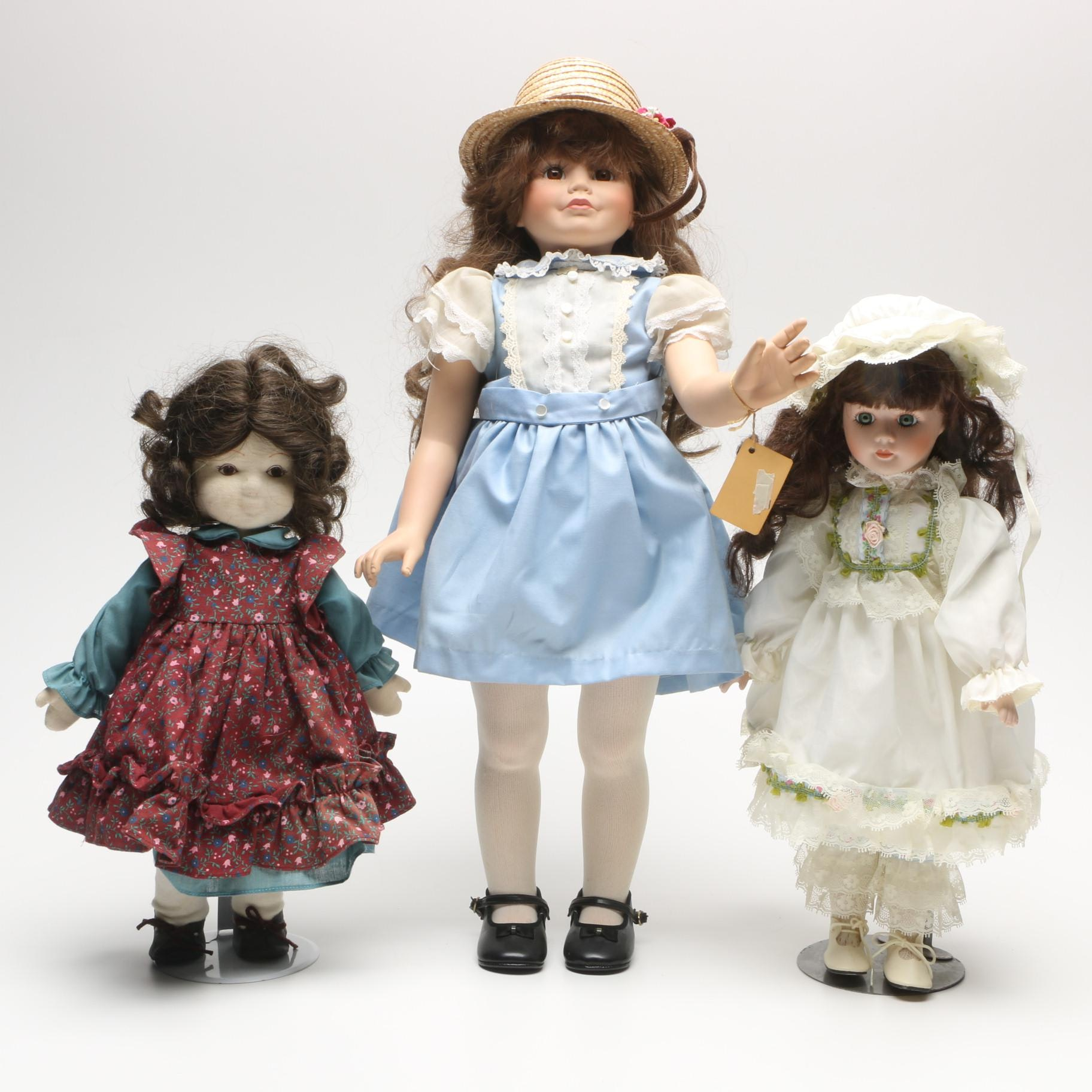 """Antique and Vintage Dolls Including c. 1930 Ideal """"Shirley Temple"""""""