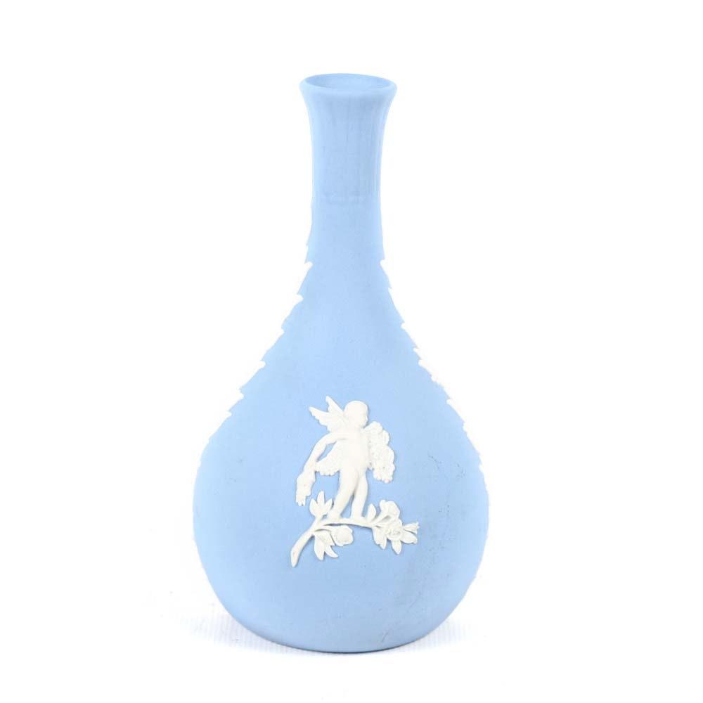 Wedgwood Jasperware Cupid Bud Vase