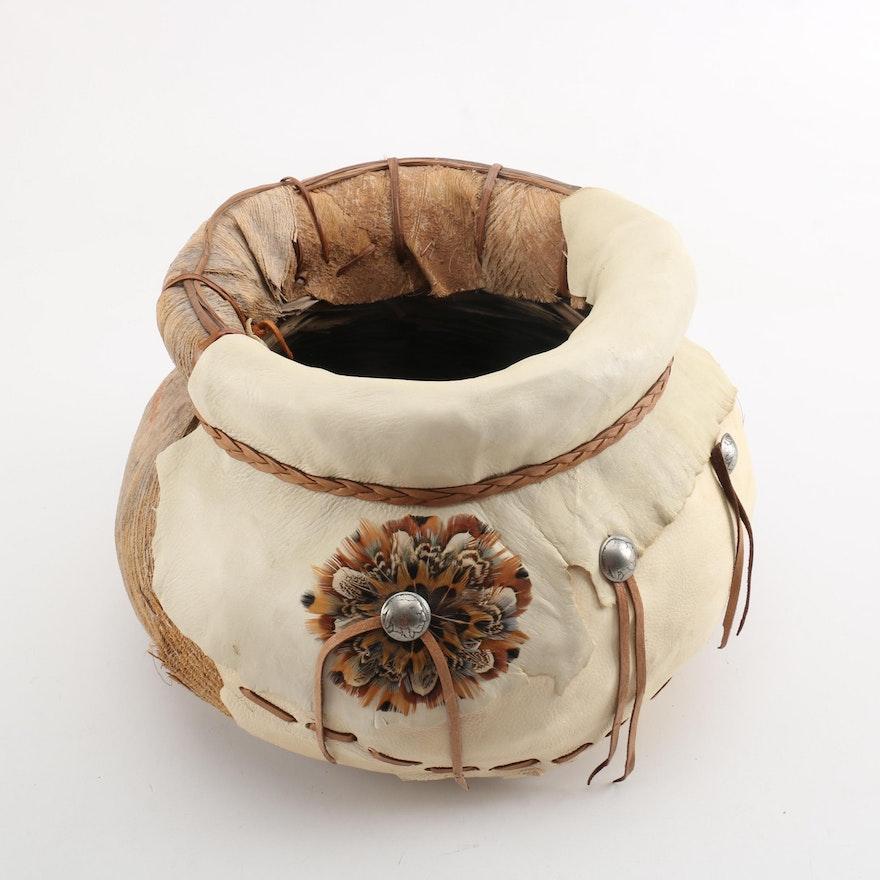 Modern Native American Themed Tribal Basket By Whatasquaw Ebth